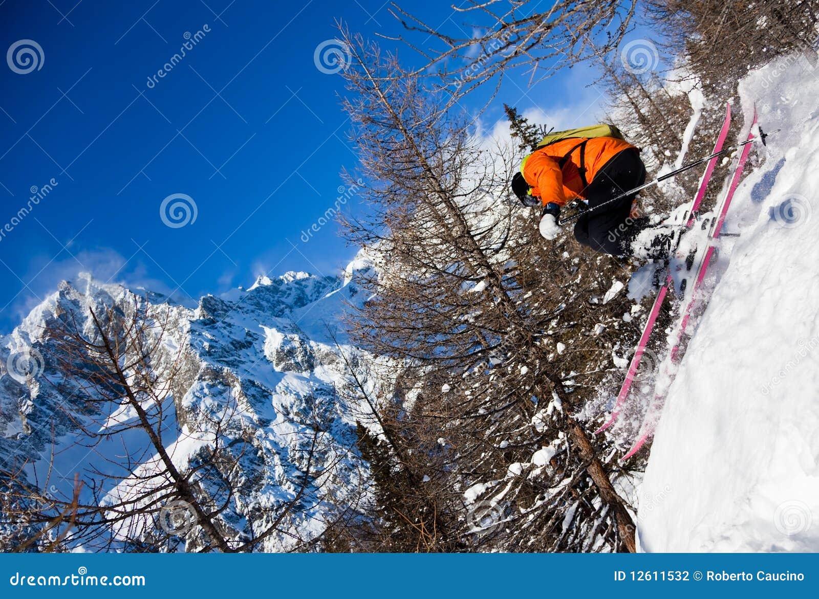 Skieur en air
