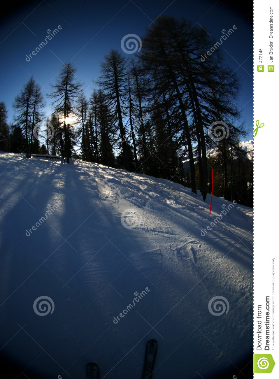 Download Skiing action 4 stock image. Image of downhill, skiing - 472745