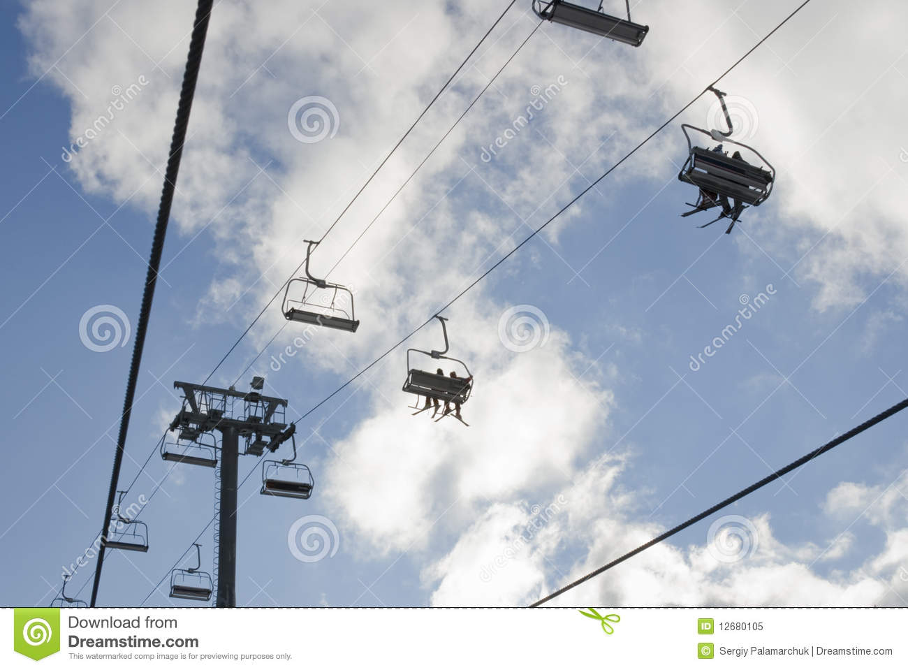 Skiing chair lift royalty free stock photo image 12680105