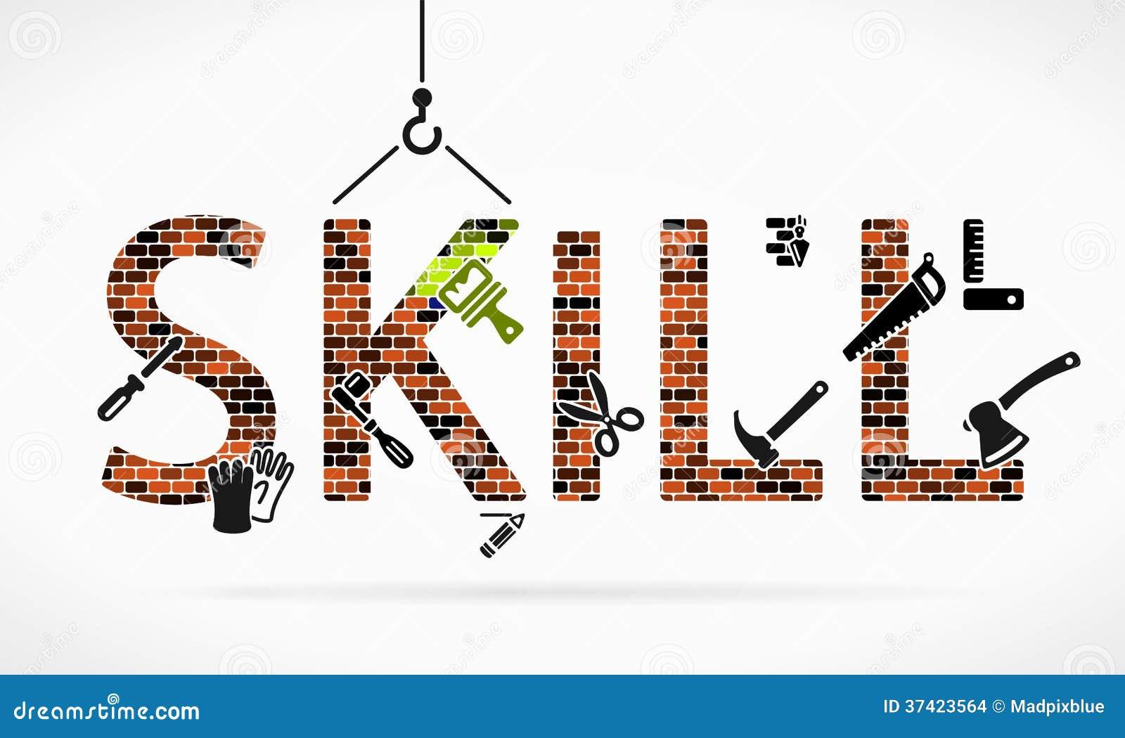 Skill Stock Vector Illustration Of Bolt Masonry Design