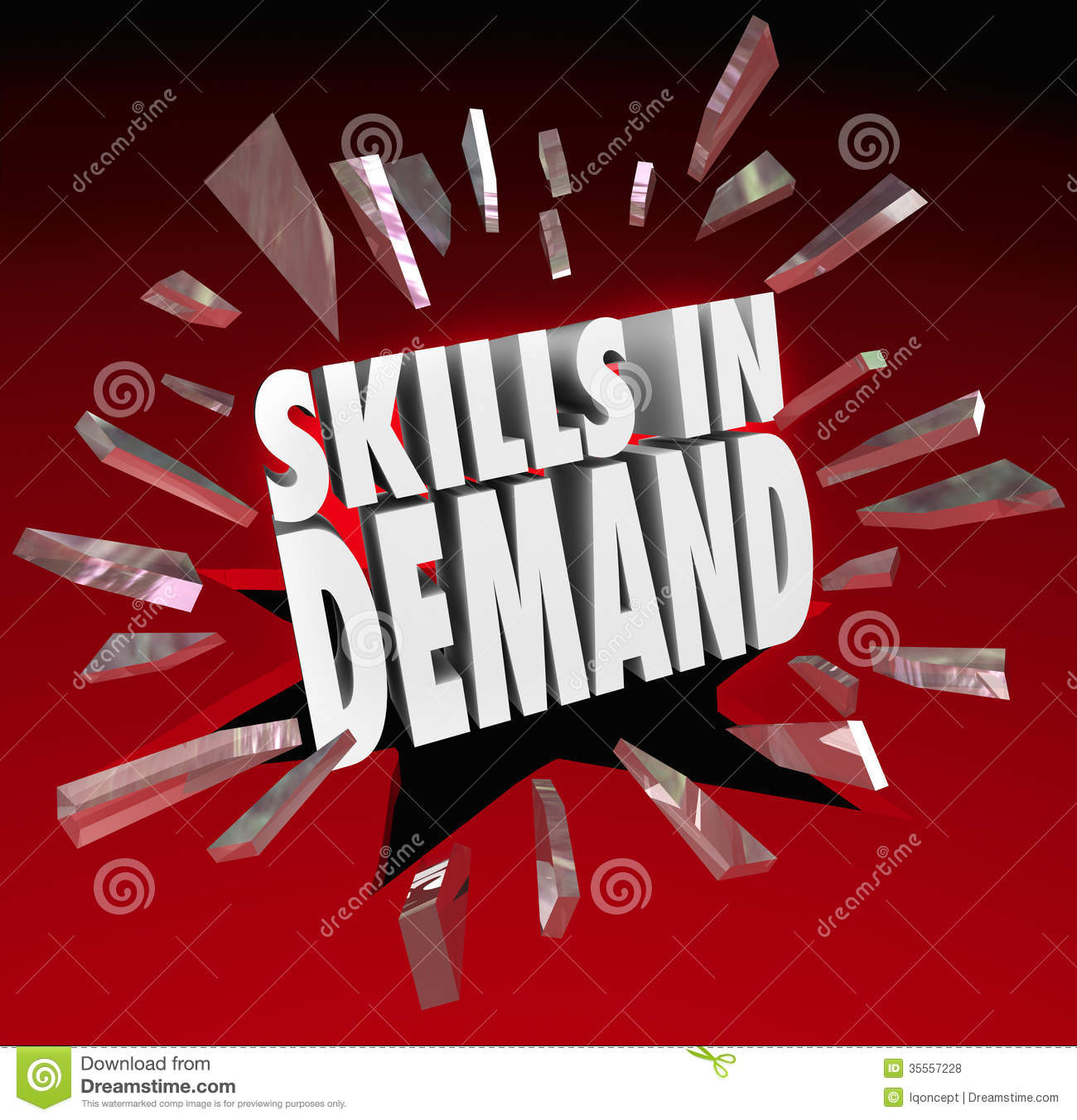 Skills In Demand 3d Words Needed Experience Stock