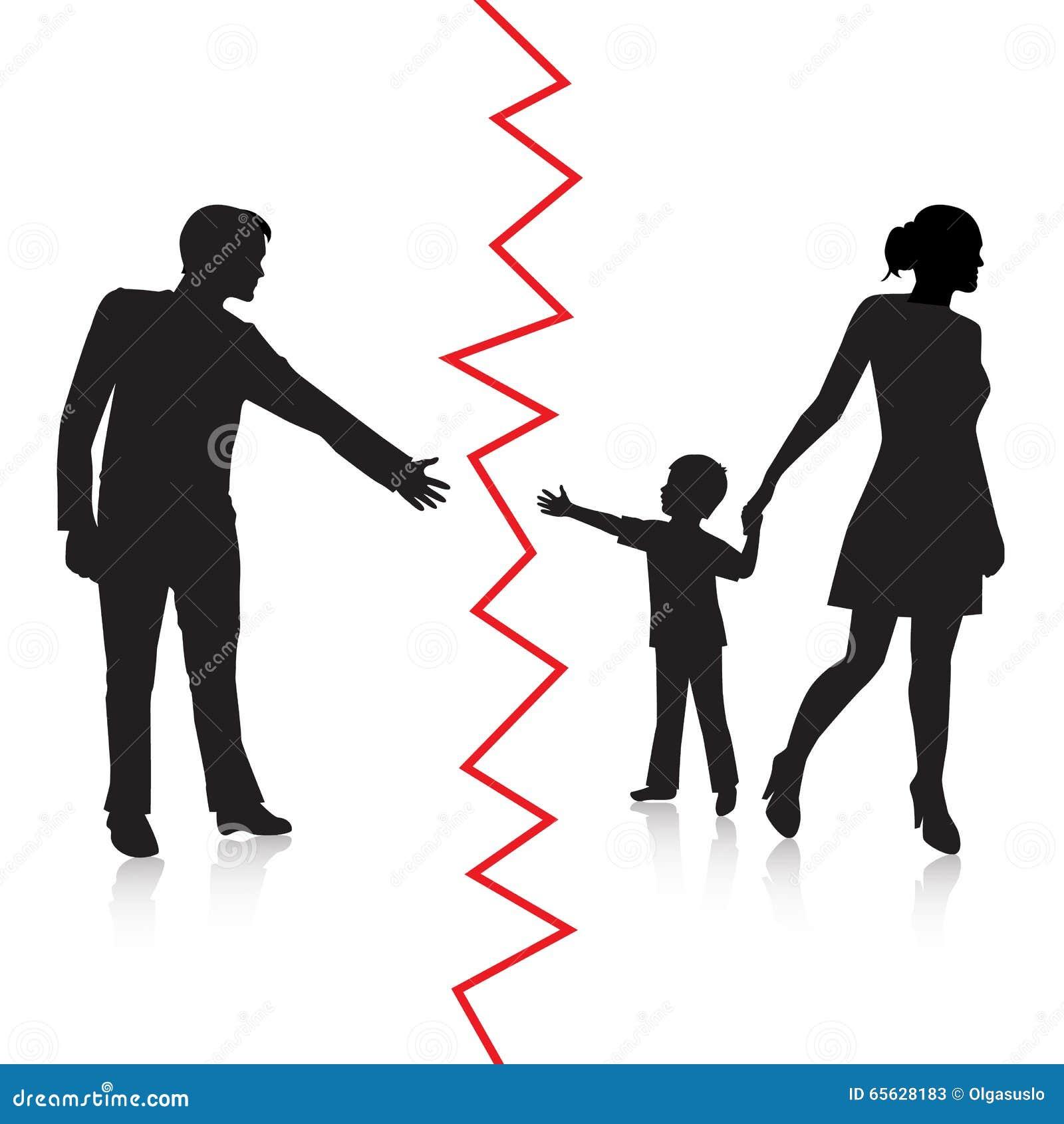 Skilsmässan och avskiljandet av fadern och behandla som ett barn