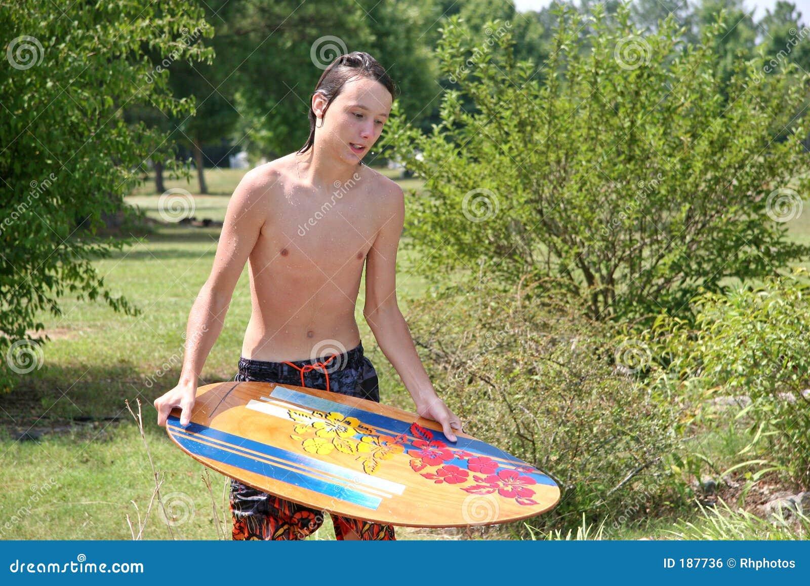 Skimboard adolescente masculino