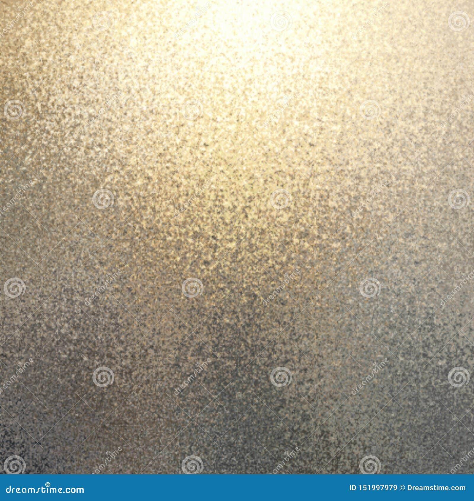 Skimra guld försilvrar abstrakt bakgrund för övergången Defocused glimma textur