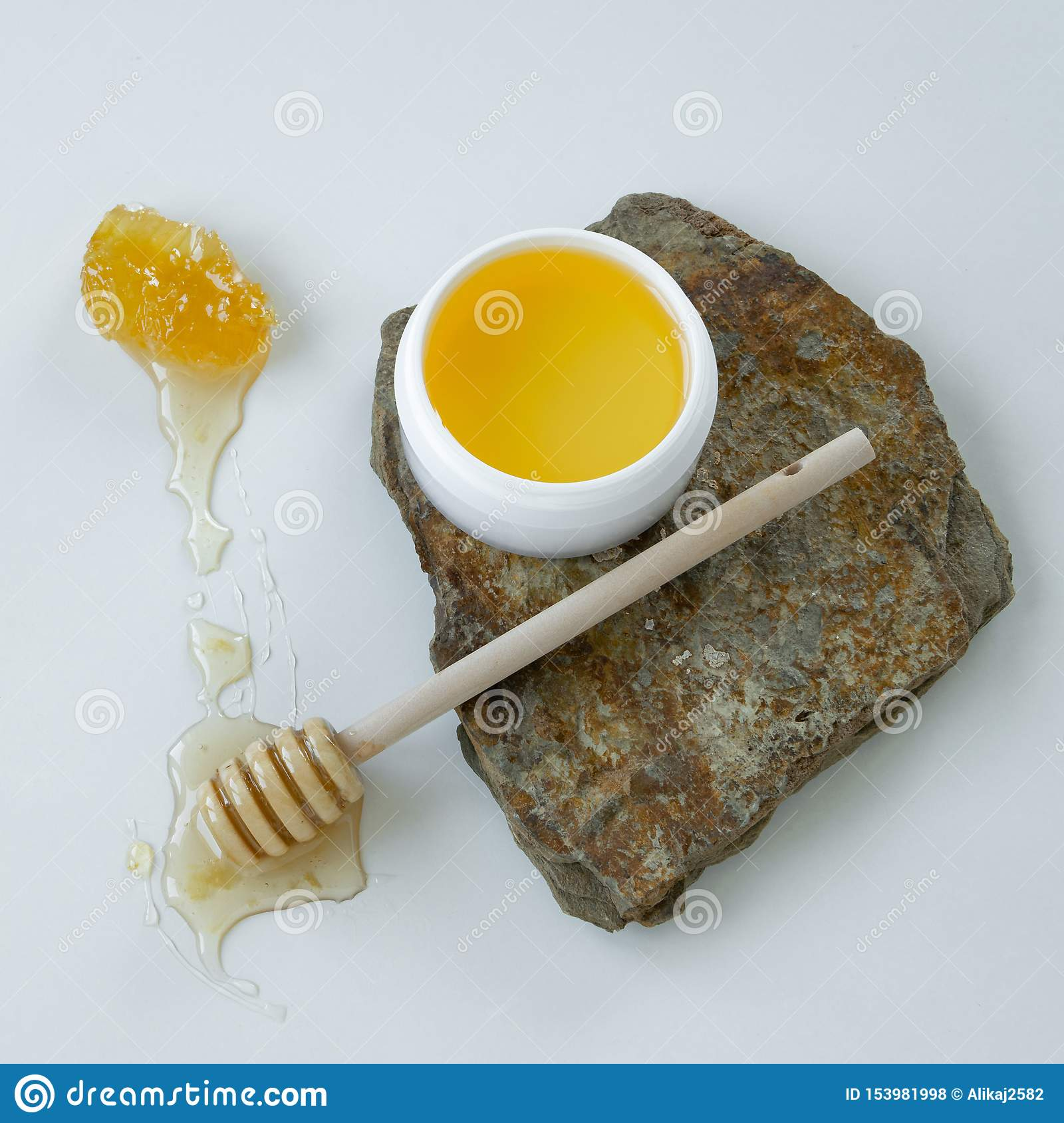 Skin care products with honey. Healthy organic remedy