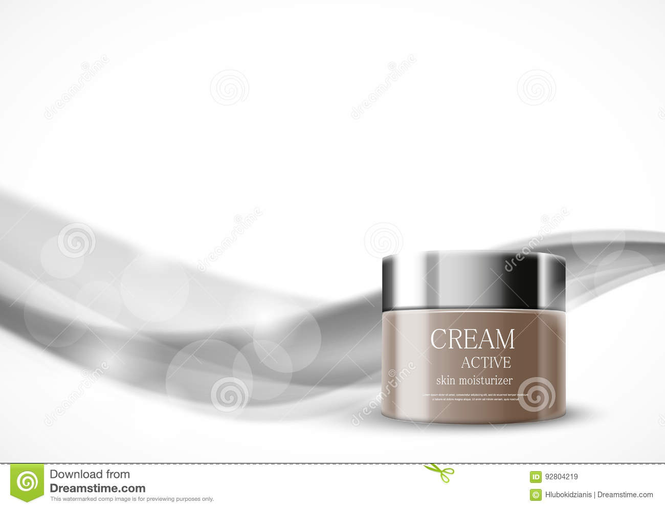 Skin moisturizer cosmetic ads template