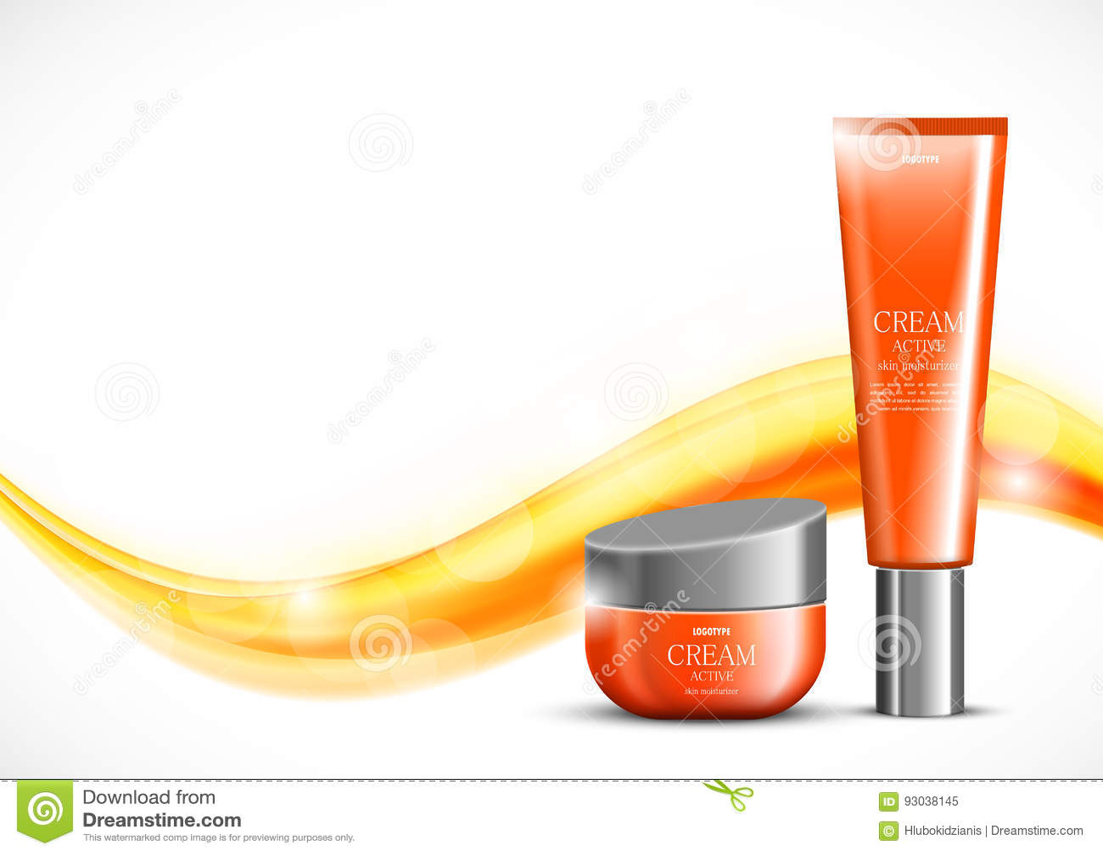 Skin moisturizer cosmetic ads template
