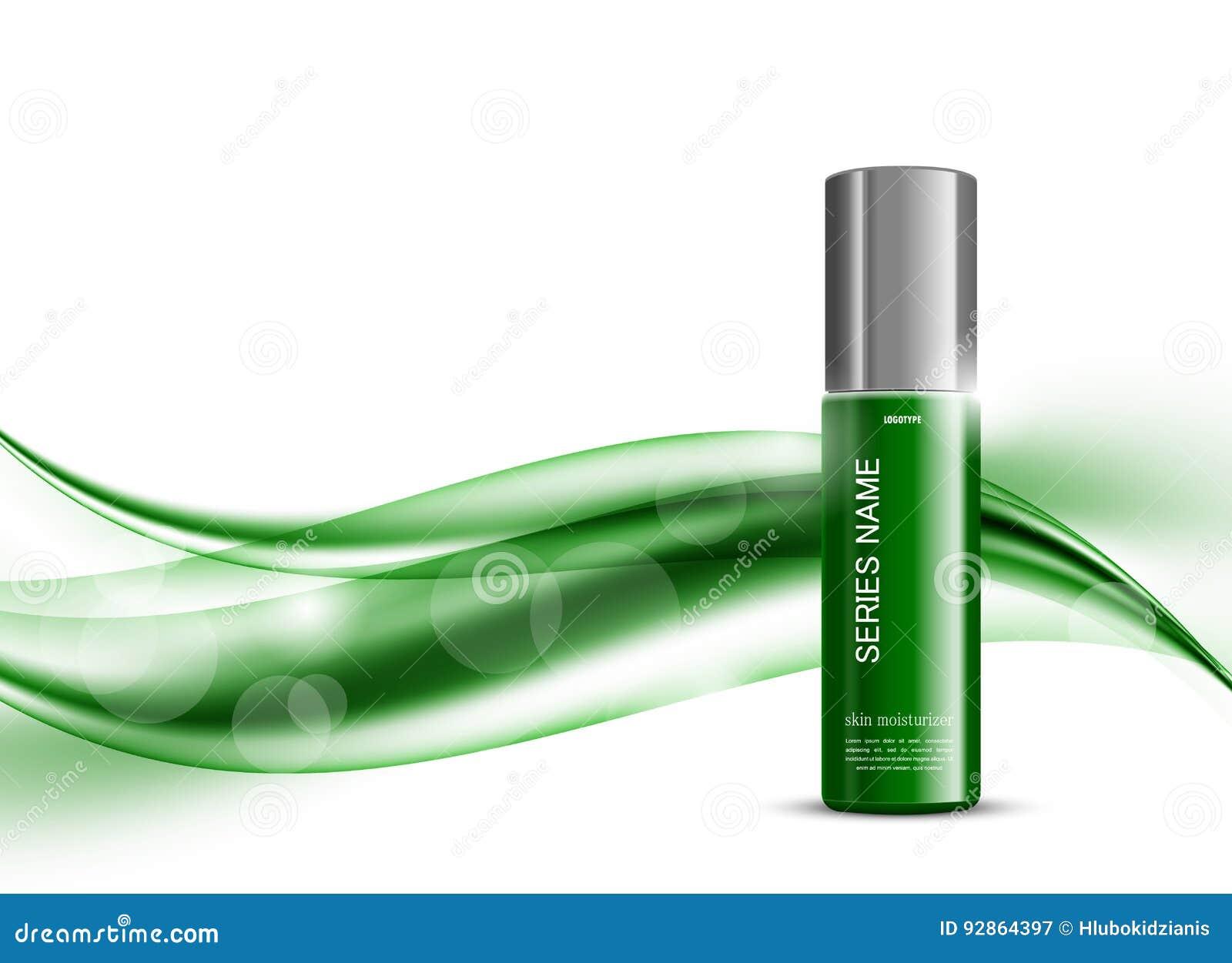 Skin moisturizer cosmetic design template