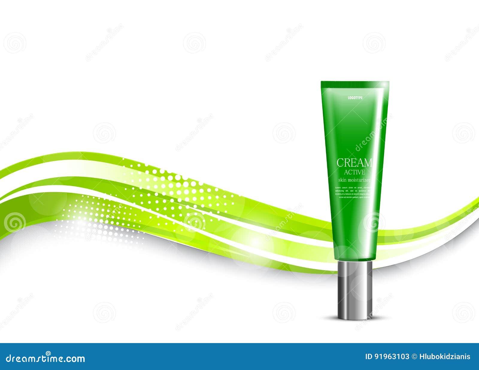 Skin moisturizer cosmetic light design template