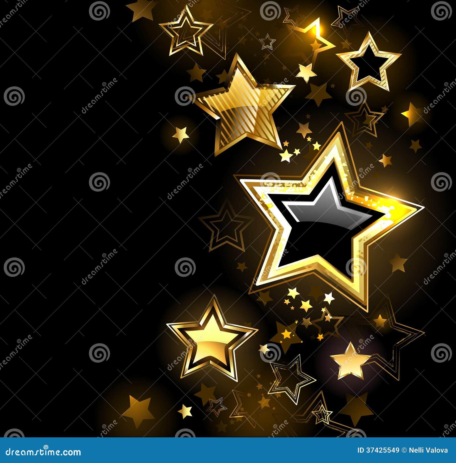 Skinande guld- stjärna