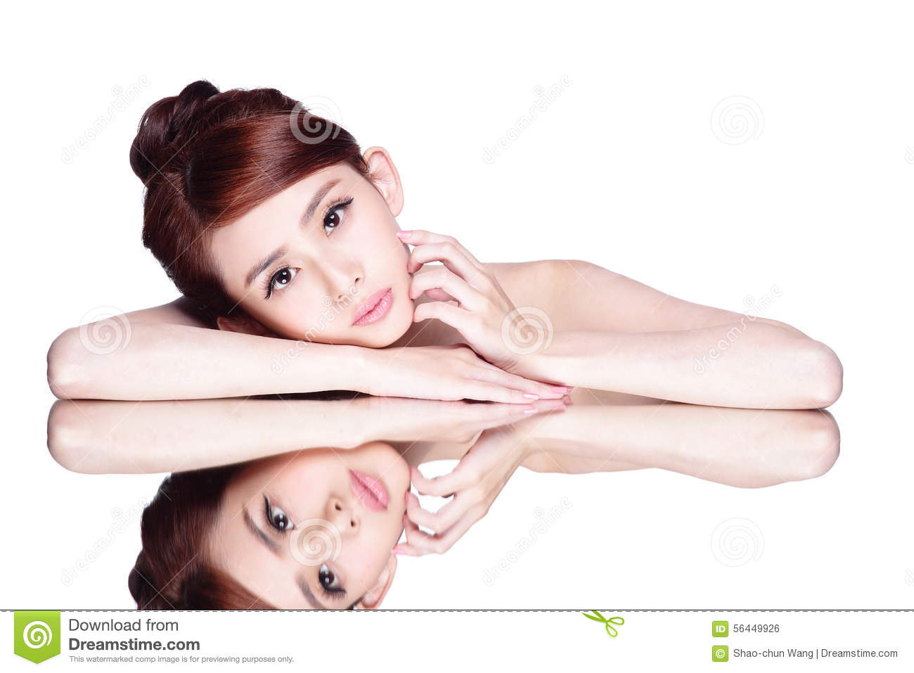 Surname asian woman face down