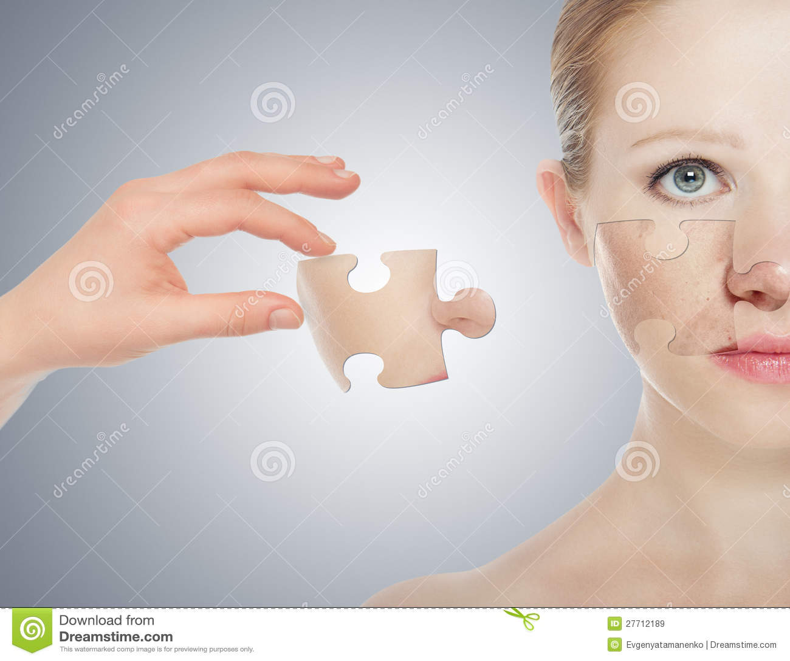 Skincare del concepto. Piel de la mujer de la belleza