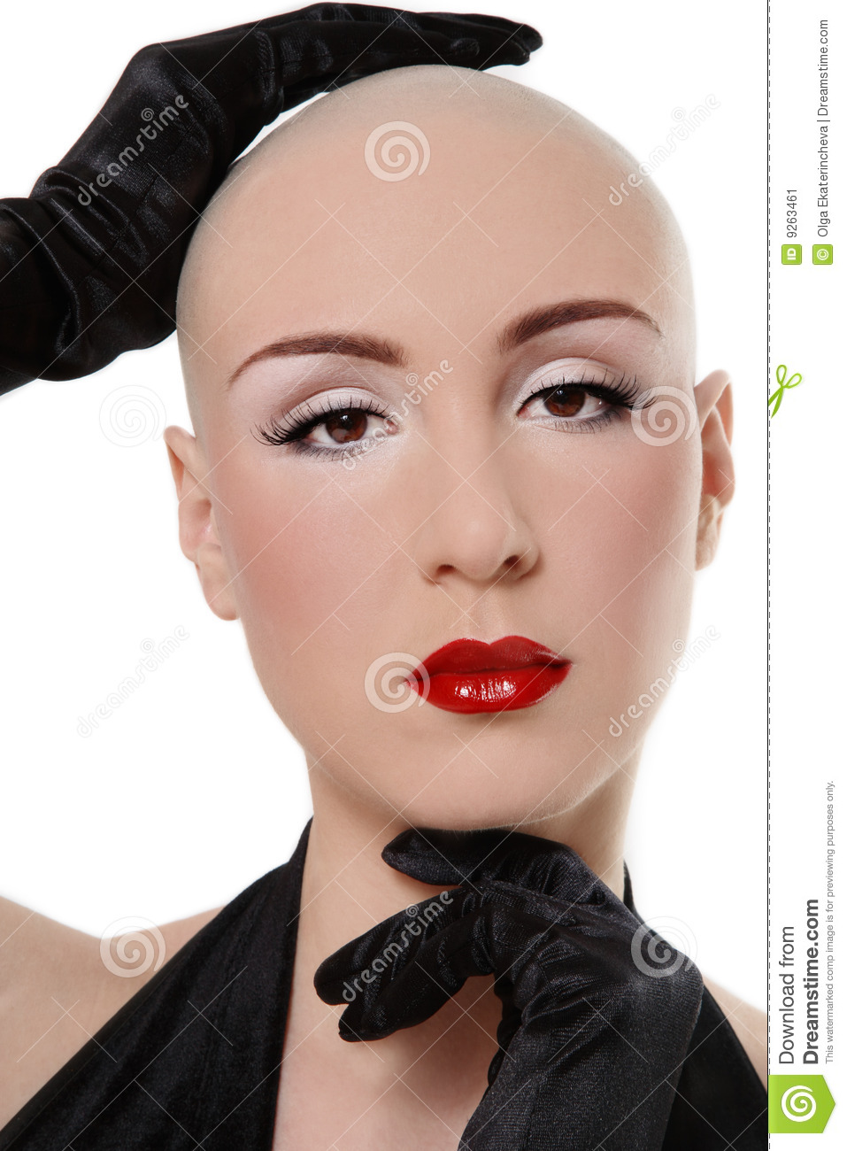 Skinhead Beauty Stock Image Image Of Attractive Shaved 9263461
