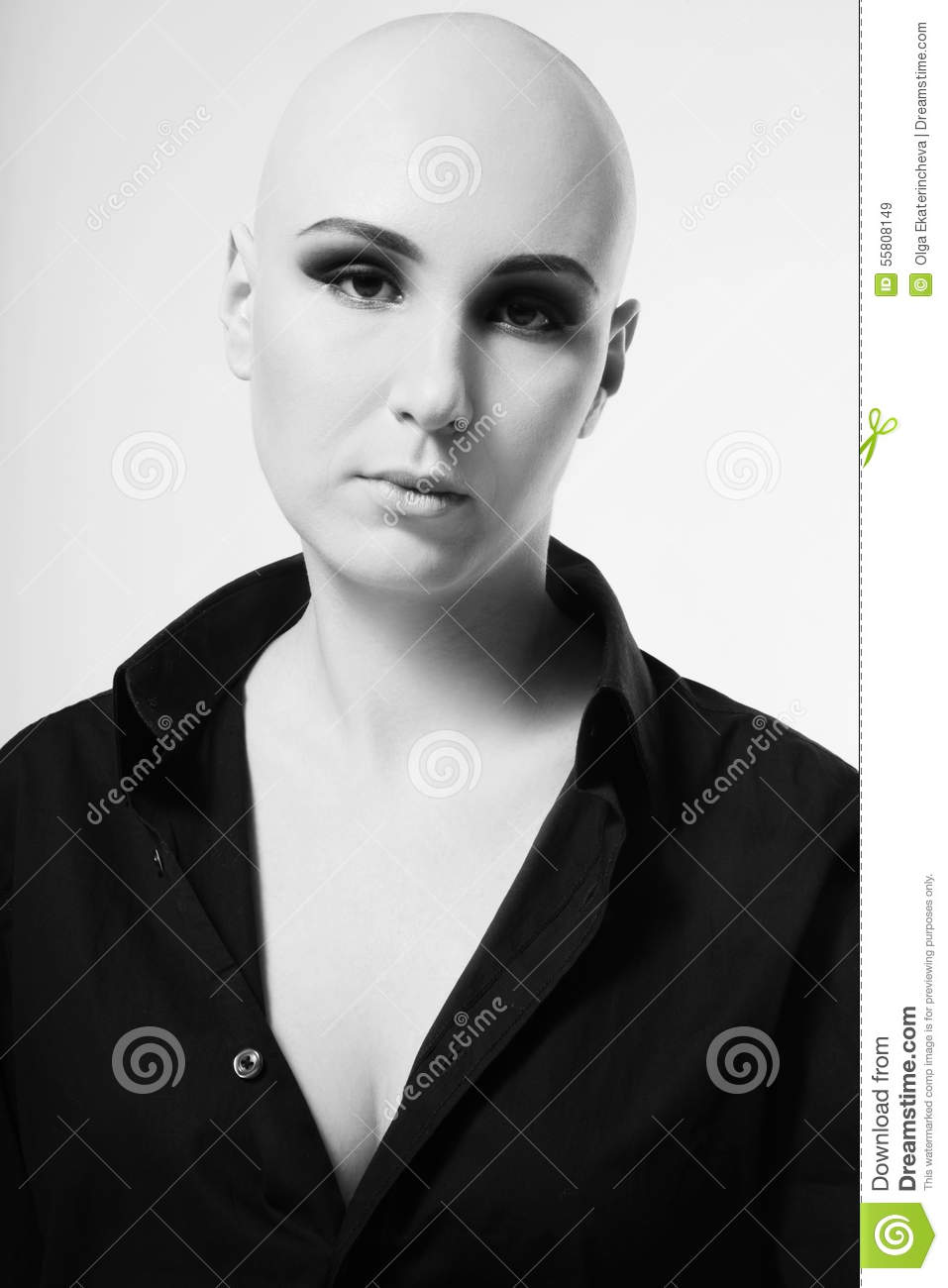 Skinhead Woman Stock Image Image Of Complexion Girl 55808149