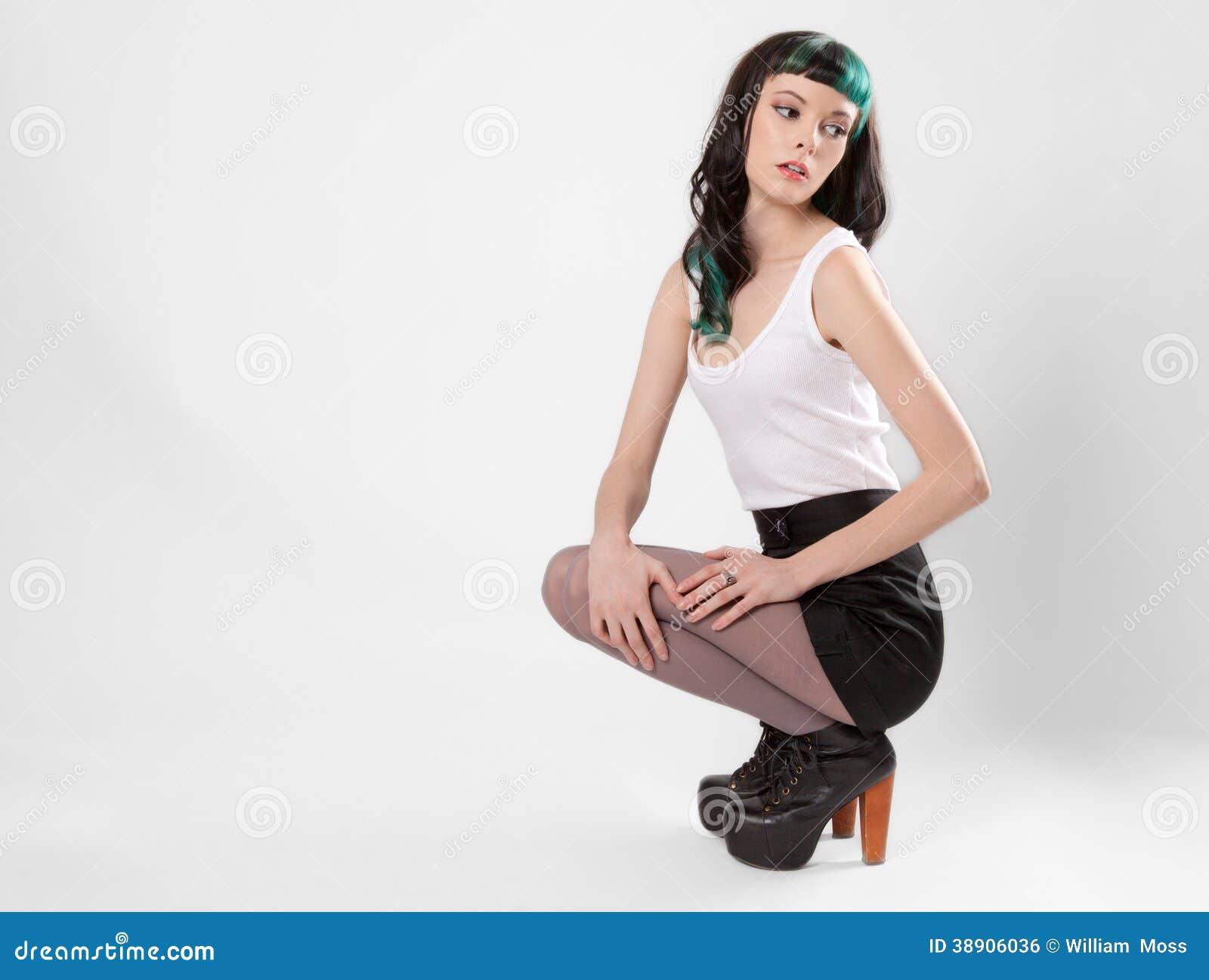 skinny fashion model stock photo image 38906036