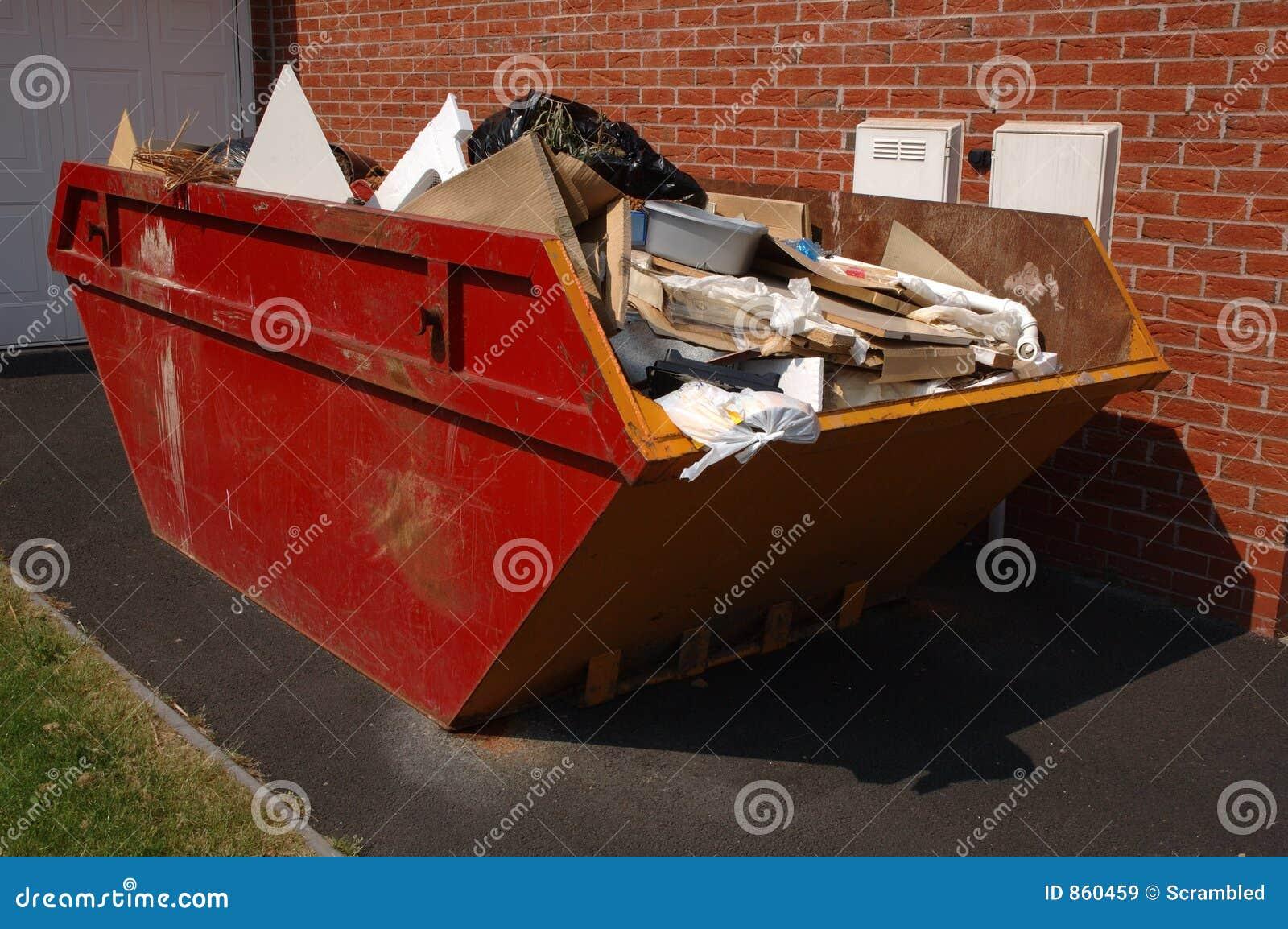 Skip van het vuilnis