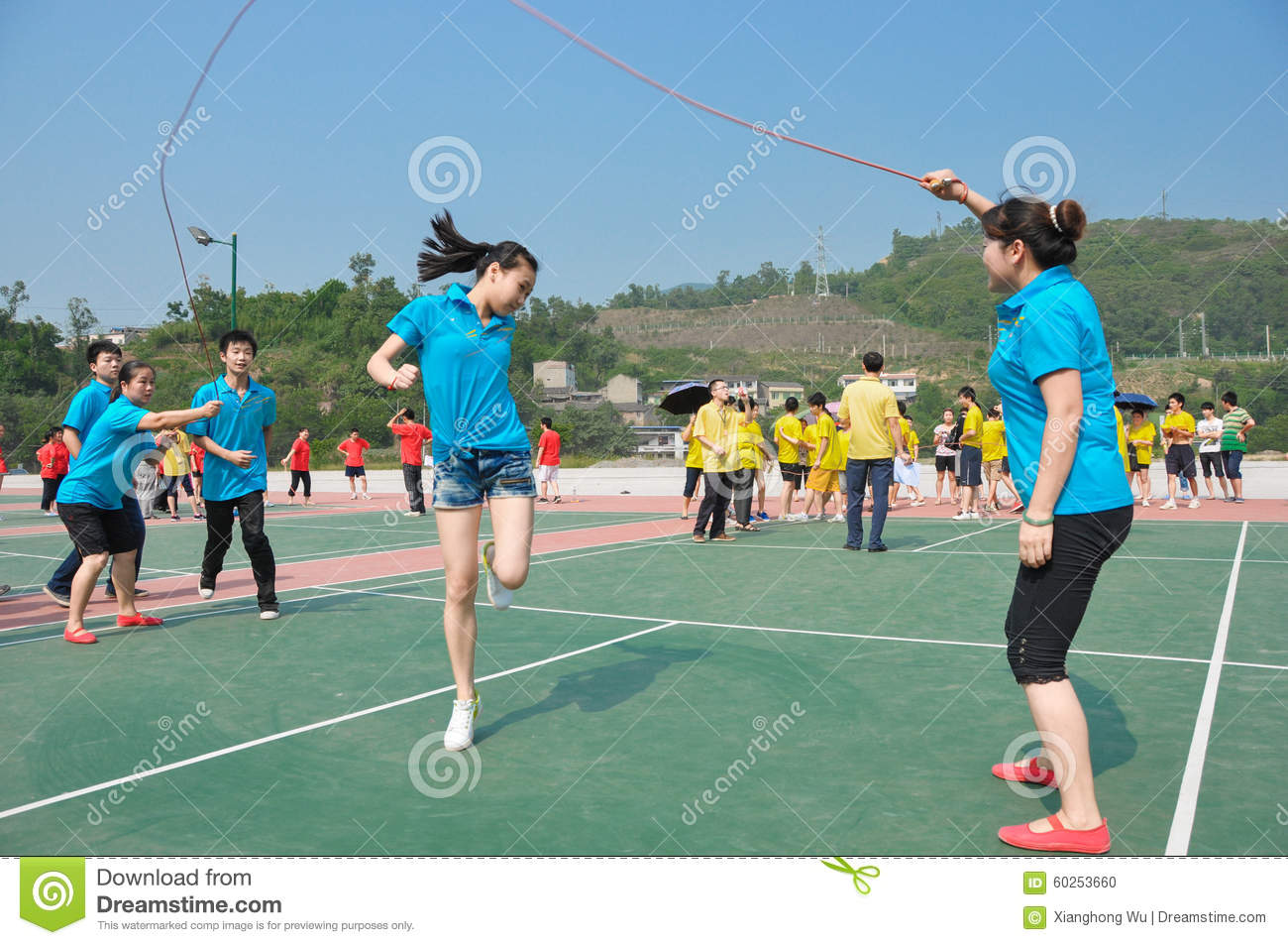 Skipping rope like bird editorial image. Image of ...