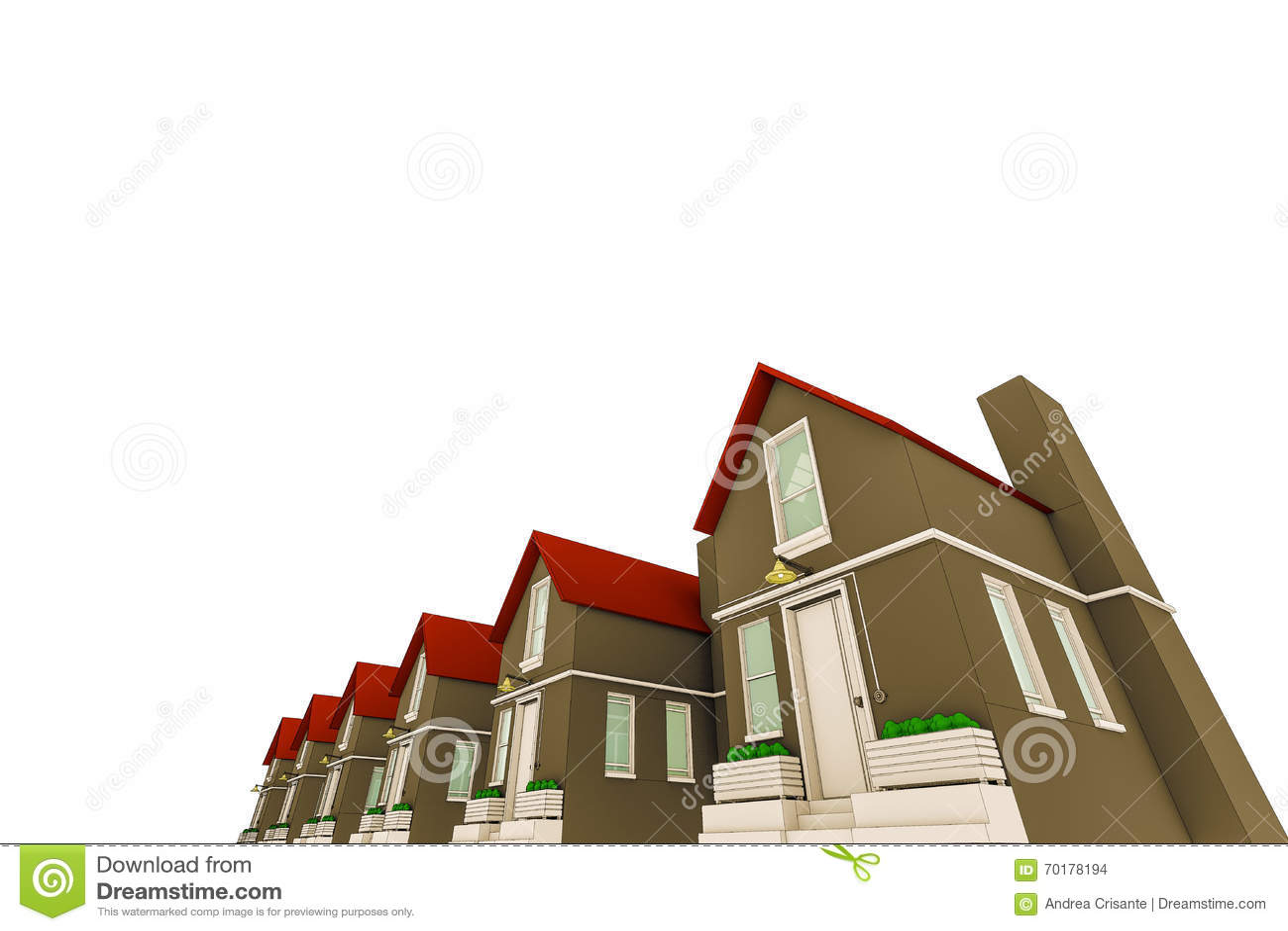 Skissade hus