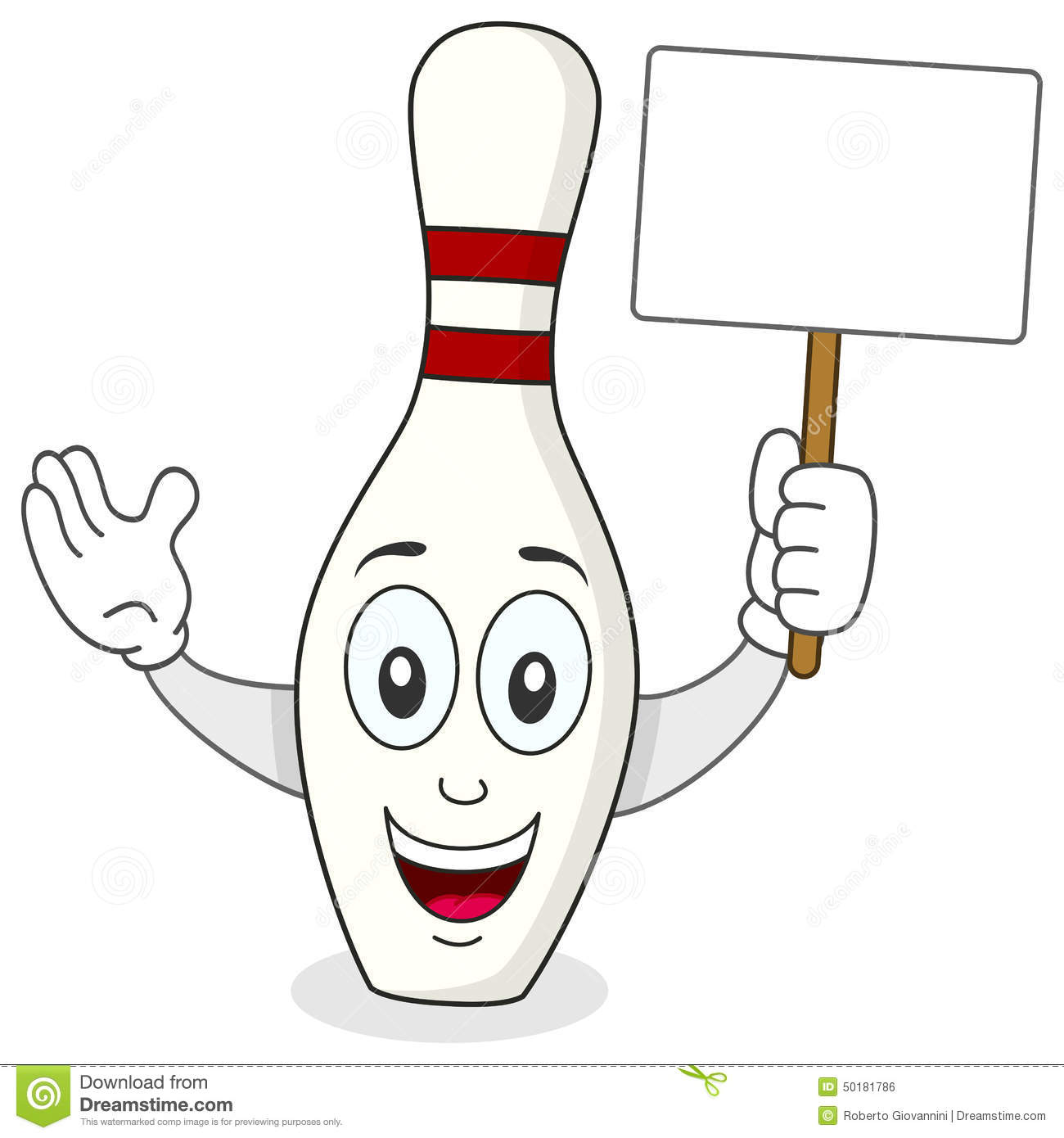 Skittle Or Bowling Pin Cartoon Character Stock Vector - Image ...
