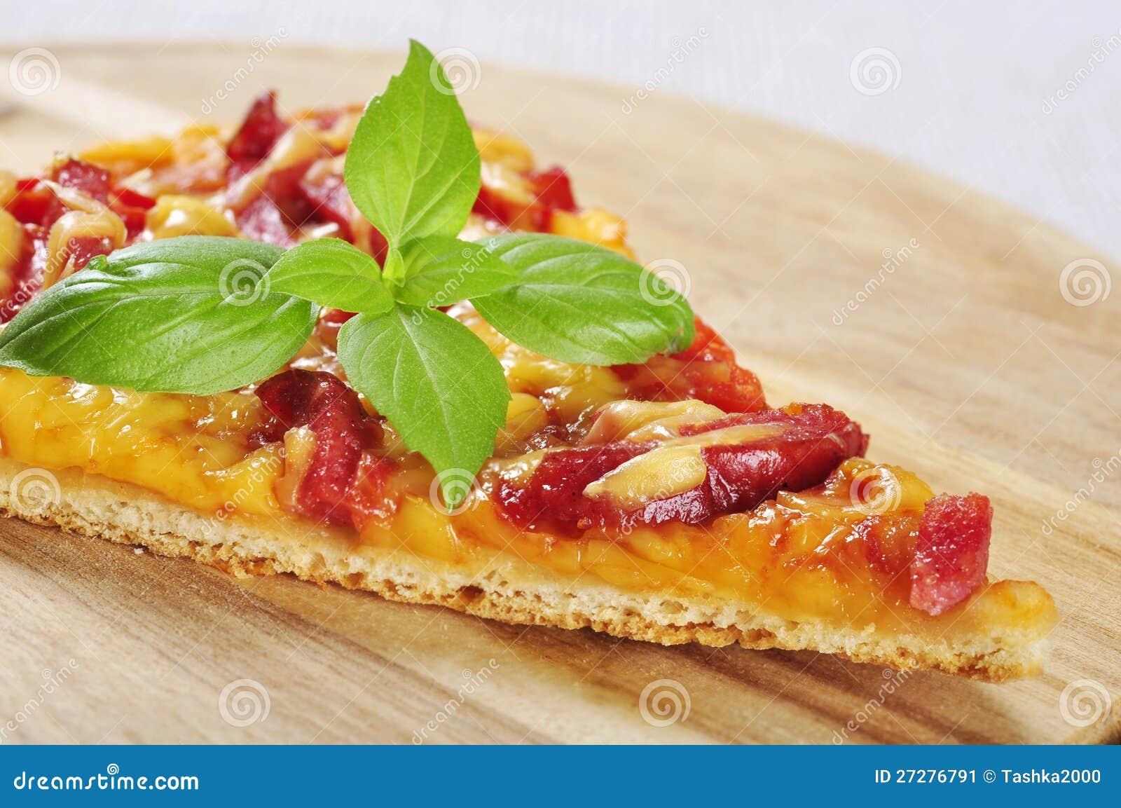 Skiva av pizza
