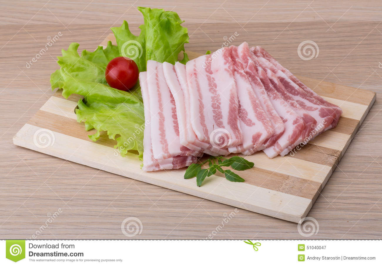 Skivad bacon