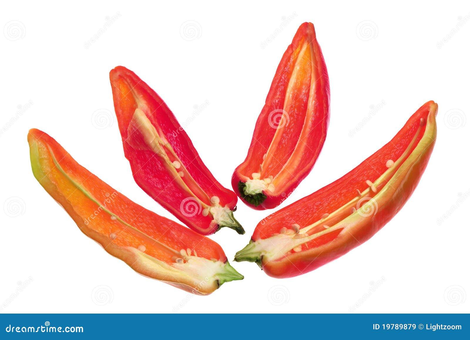 Skivor för bananchilipeppar