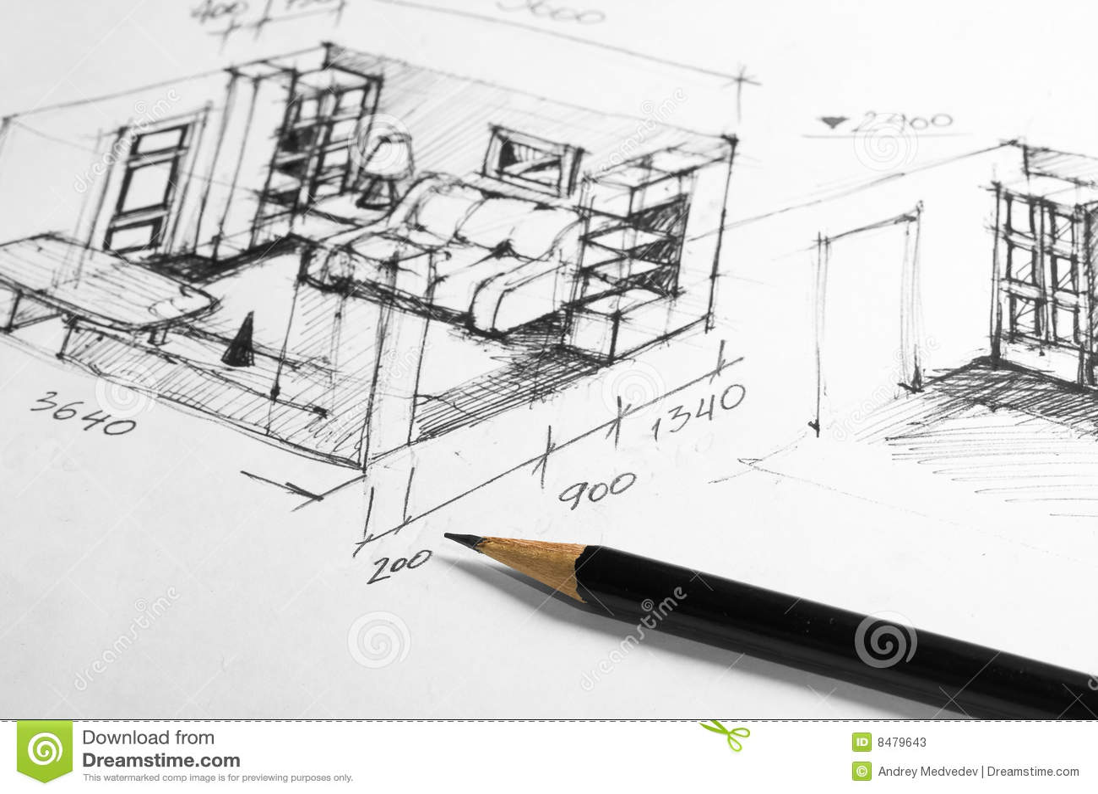 innenarchitektur skizze – dogmatise, Innenarchitektur ideen