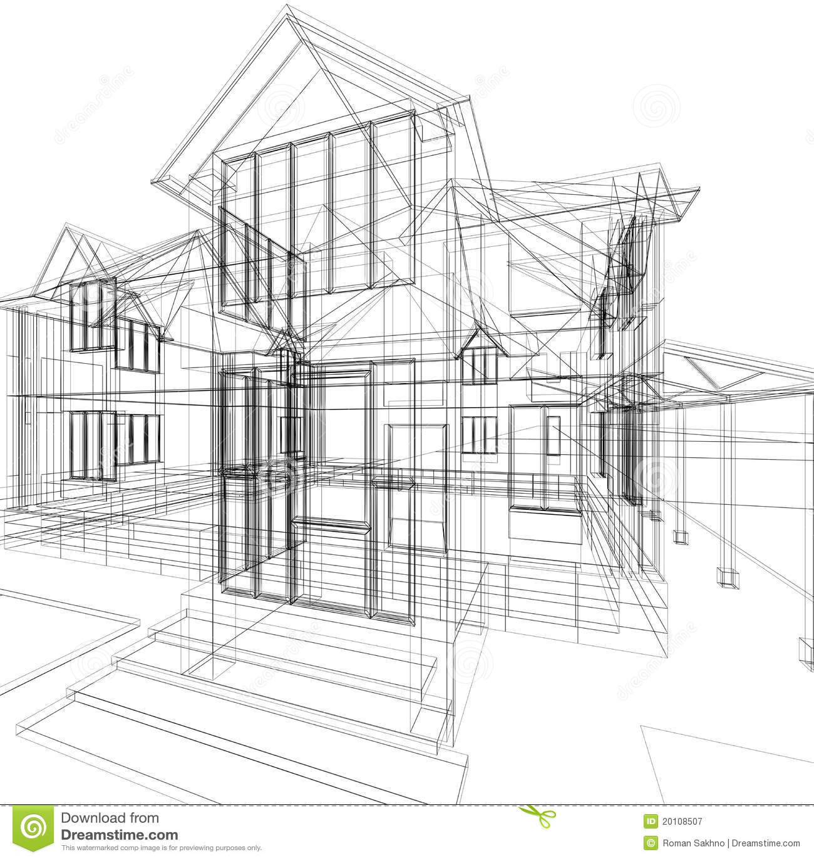 Skizze des hauses lizenzfreie stockfotografie bild 20108507 - Architektur skizze ...