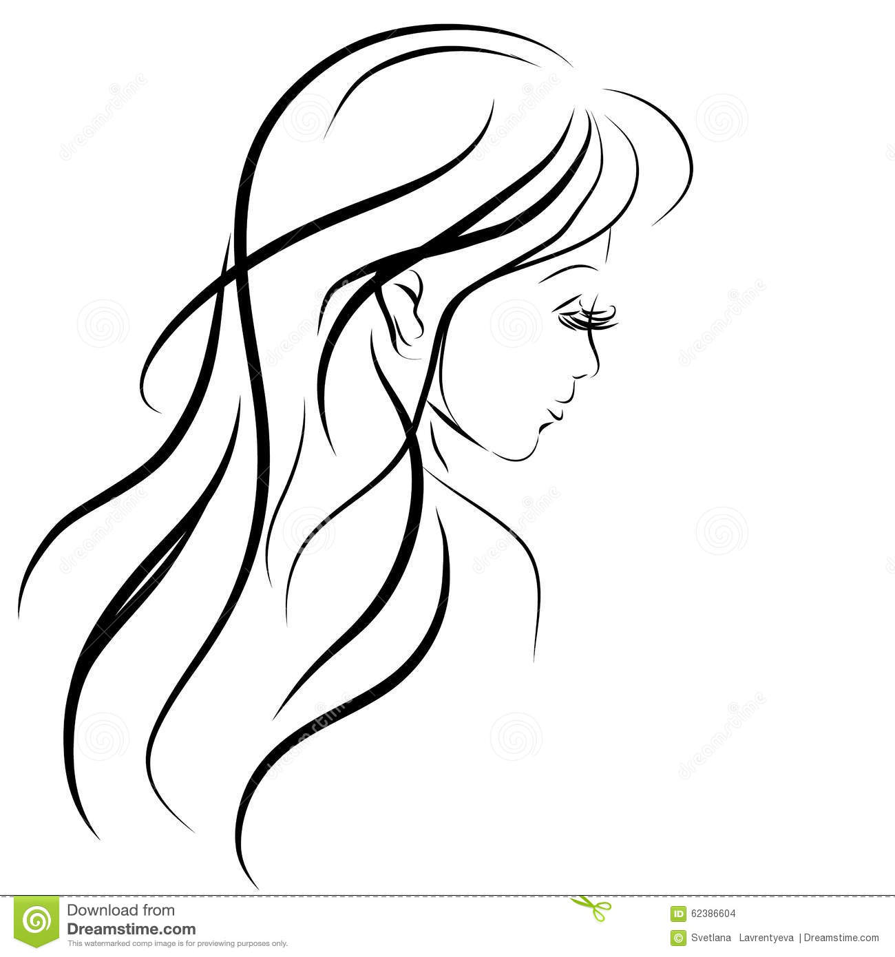 Easy Coloring Pages Of A Girls Face
