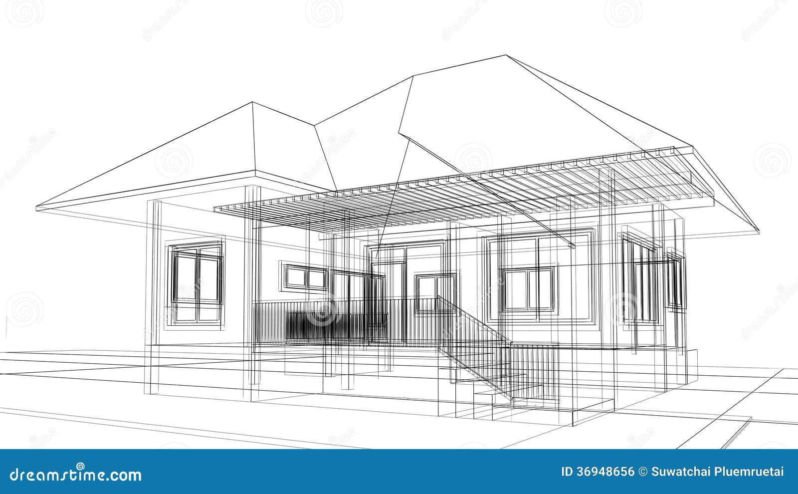 Skizzendesign Des Hauses Stock Abbildung Illustration Von Konzept