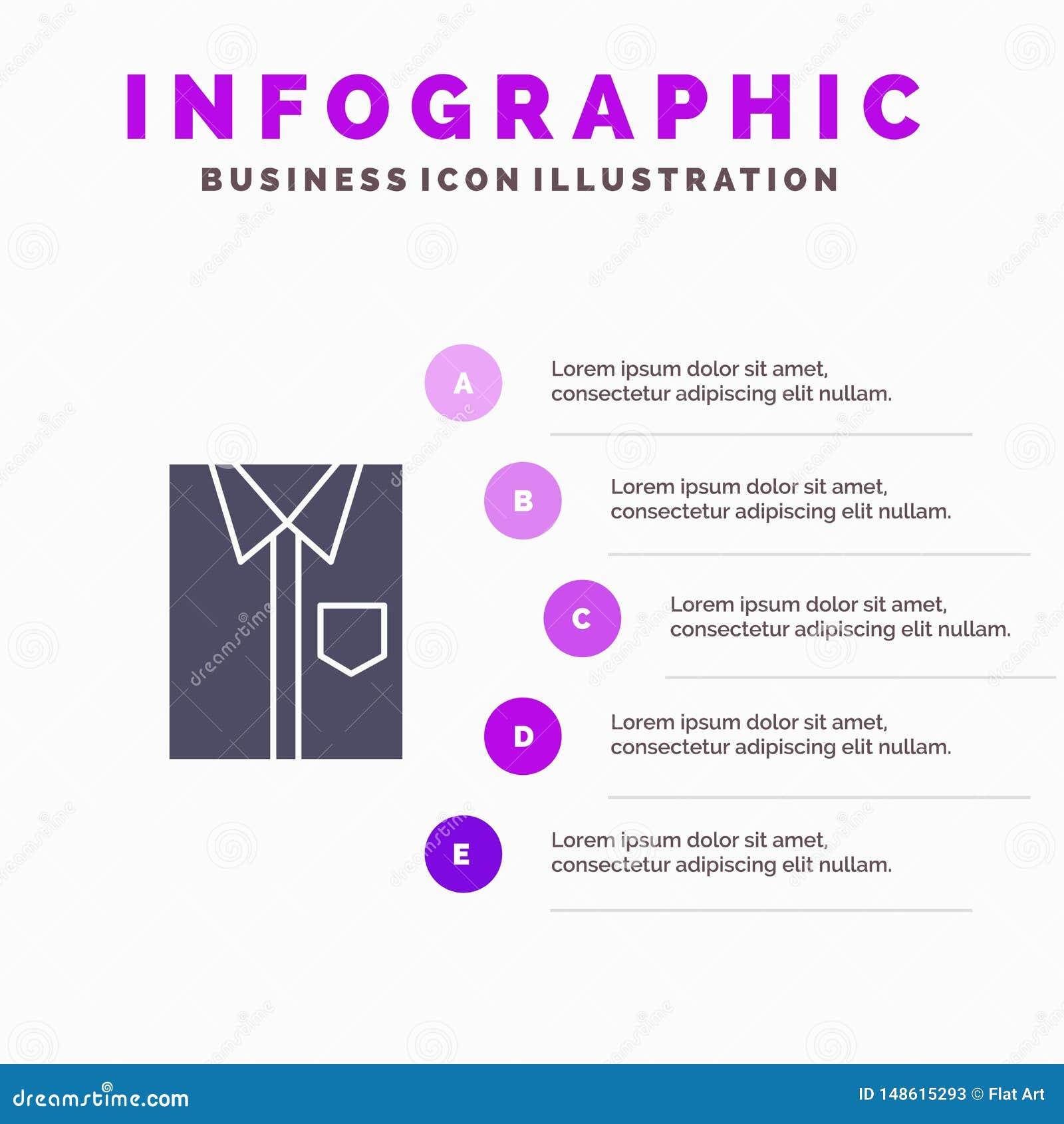 Skjorta torkduk, kläder, klänning, mode som är formellt, för symbolsInfographics 5 för kläder fast bakgrund för presentation mome
