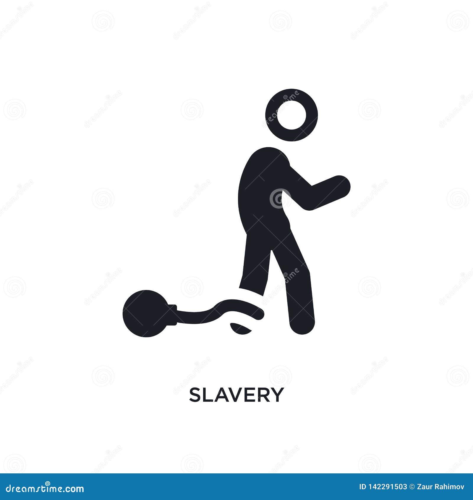 Sklaverei lokalisierte Ikone einfache Elementillustration von den politischen Konzeptikonen Logozeichen-Symbolentwurf der Sklaver
