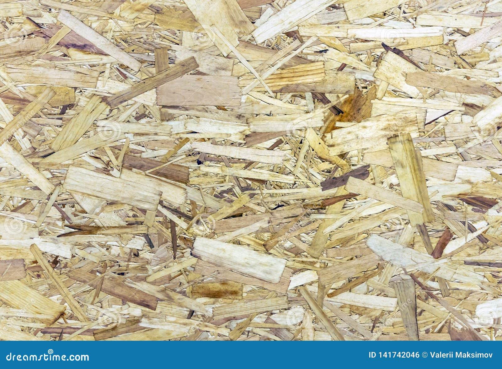 Sklejkowa szorstka tekstura Chipboard tło Talerz ściśnięty trociny