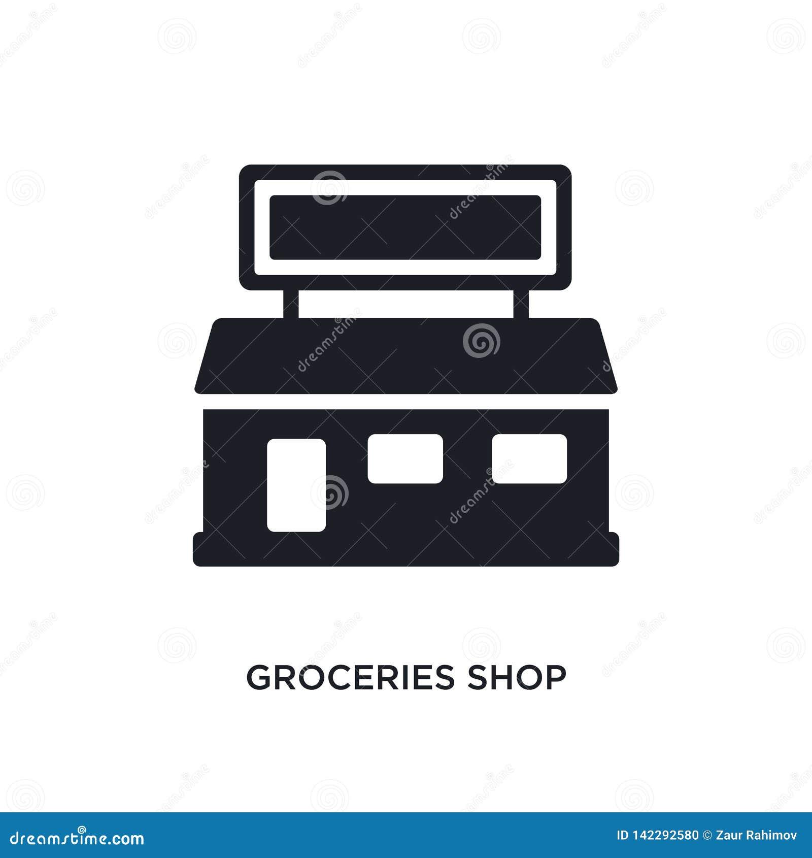 Sklepu spożywczego sklepu odosobniona ikona prosta element ilustracja od ostatecznych glyphicons pojęcia ikon sklepu spożywczego