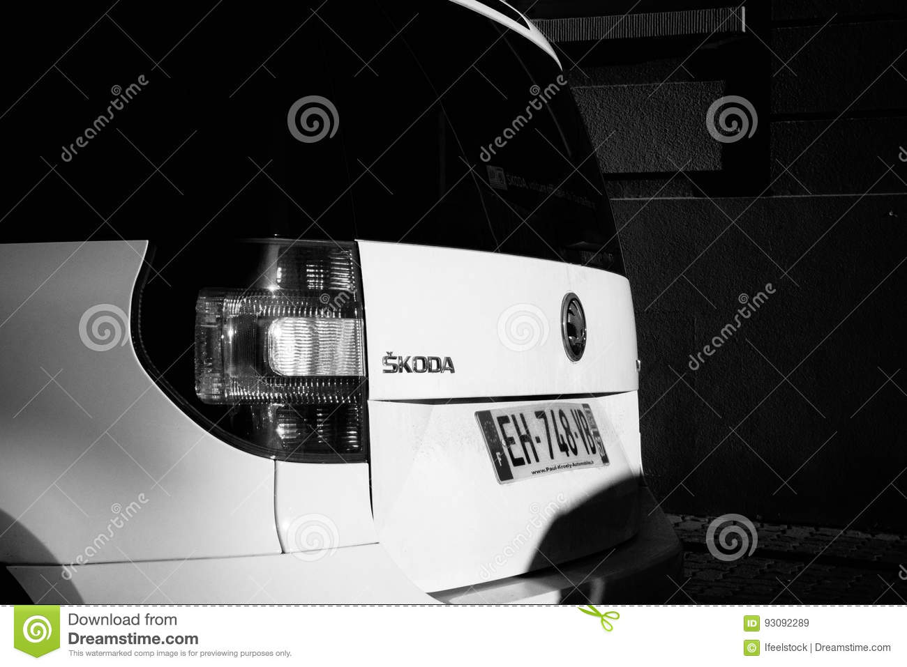 Skoda Yeti Car Parked On A Street In France Editorial Stock Image