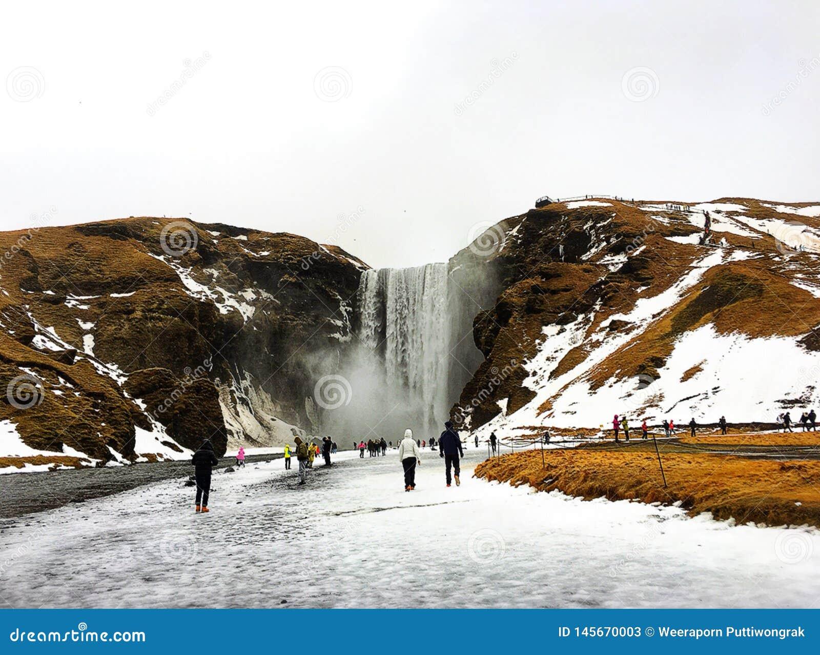 Skogafoss, Islande