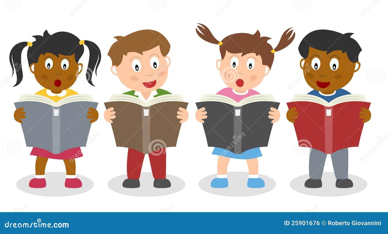 Skolan lurar läsa en bok