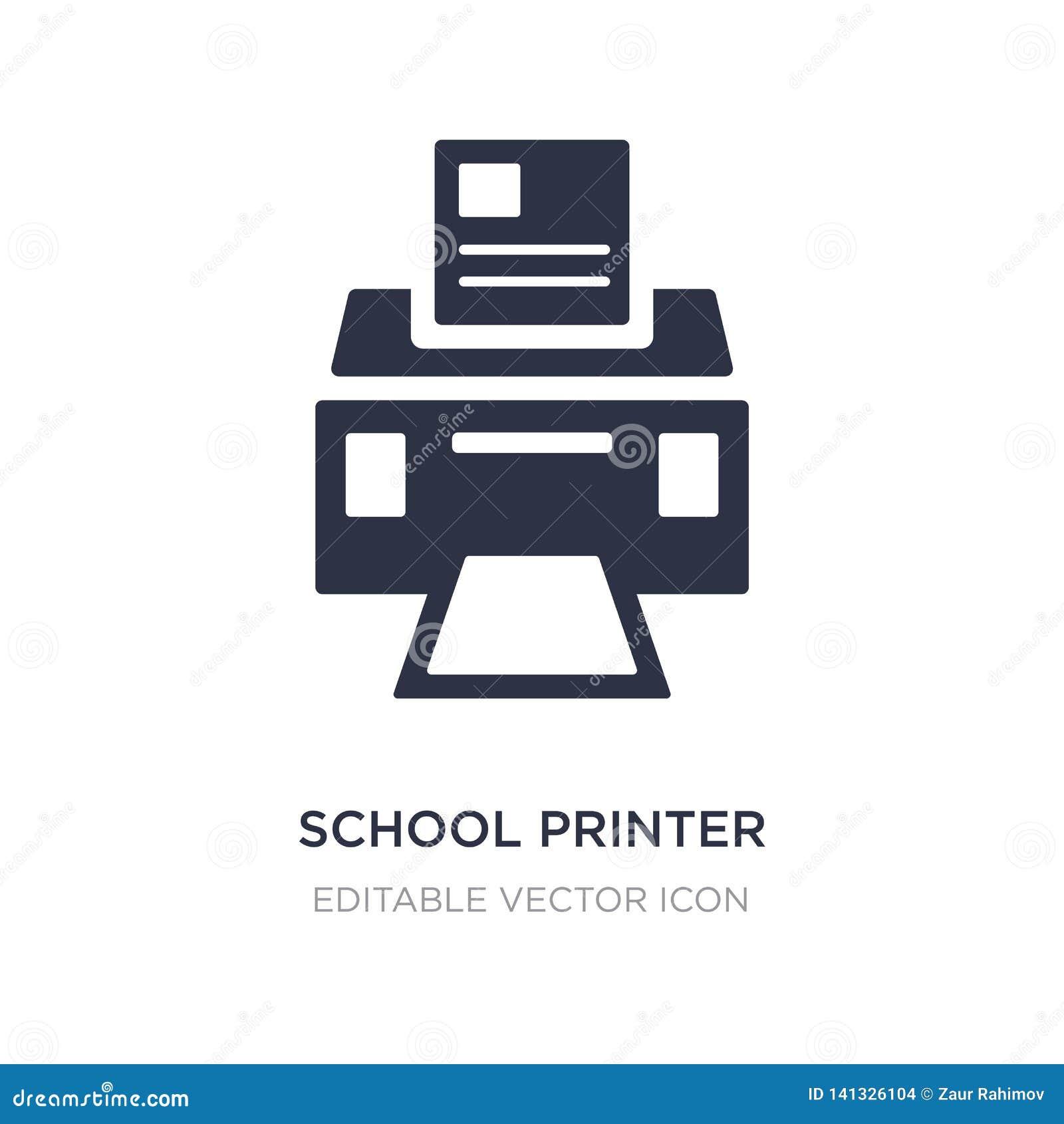 Skolaskrivarsymbol på vit bakgrund Enkel beståndsdelillustration från allmänt begrepp