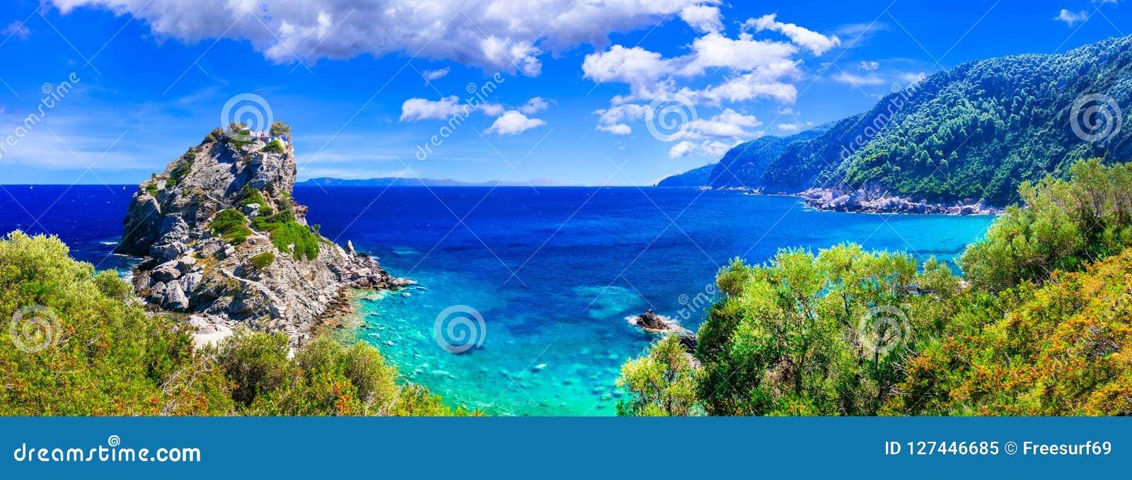 Breathtaking landscapes of Sporades, Skopelos island