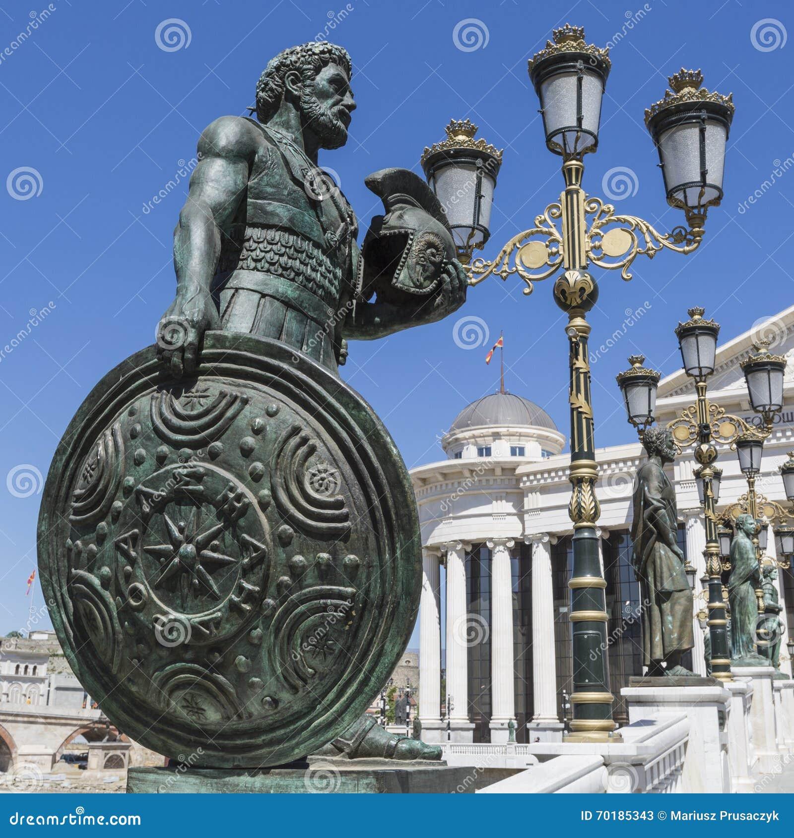 SKOPJE MAKEDONIEN - APRIL 14, 2016: Macedonian arkeologisk mu