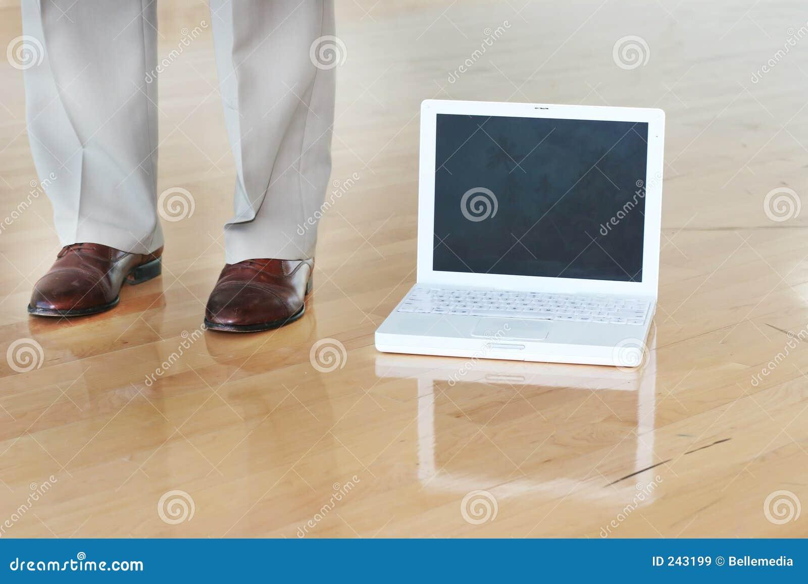 Skor för affärsgolvbärbar dator