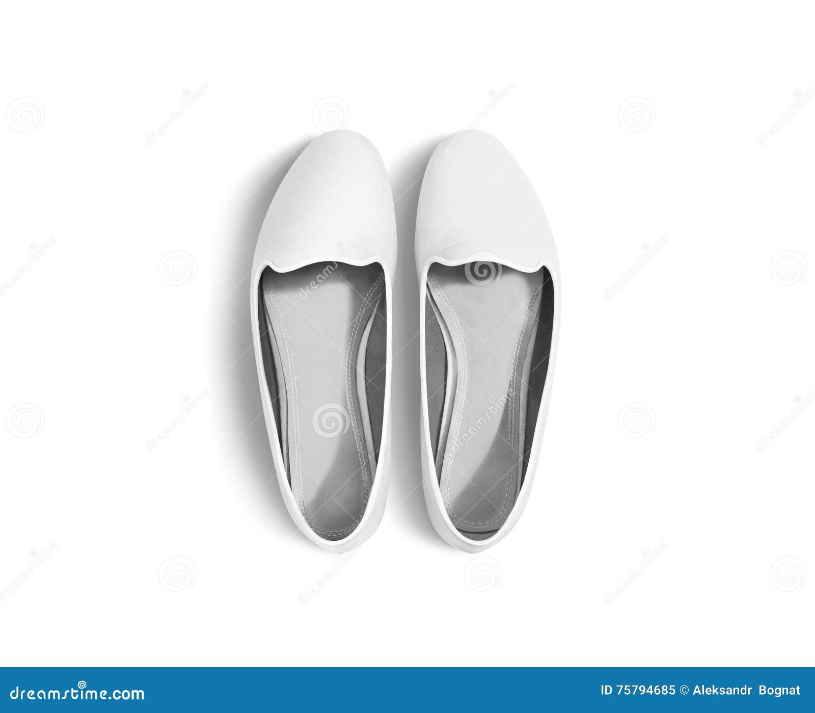 Skor tomma kvinnor för vit den isolerade modellen, den bästa sikten, snabb bana