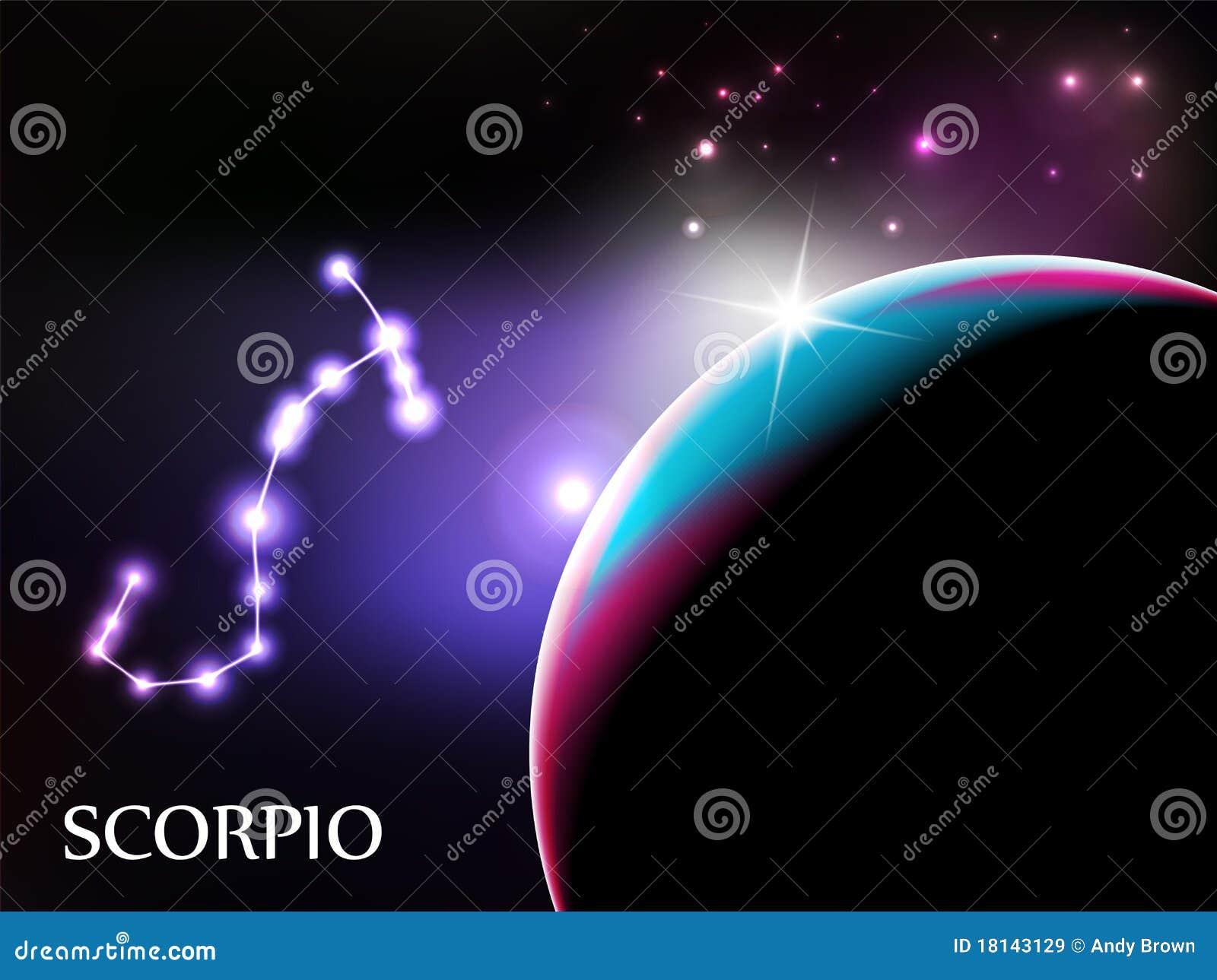 Skorpion-astrologisches Zeichen und Exemplarplatz