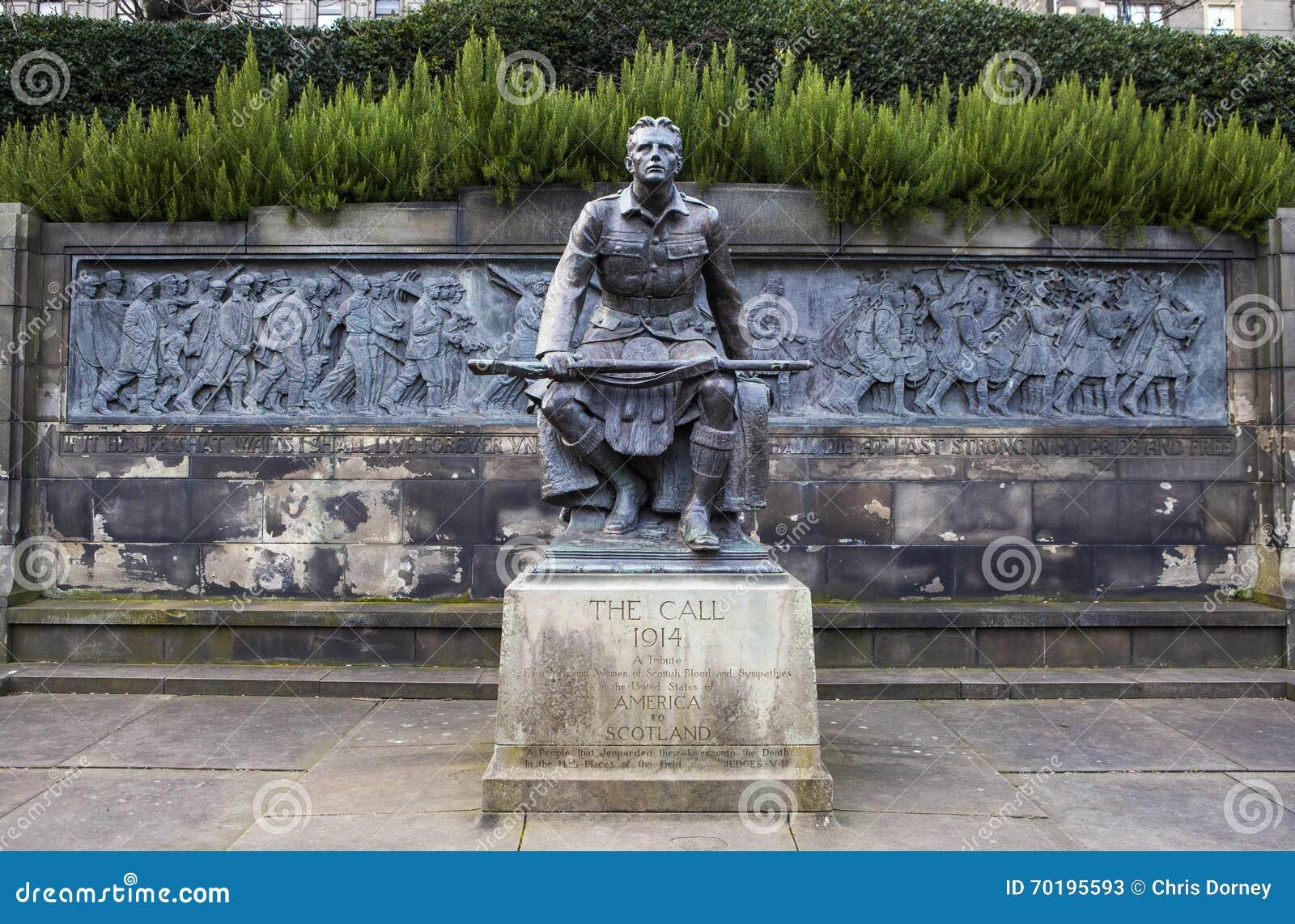 Skotsk amerikansk minnesmärke i Edinburg