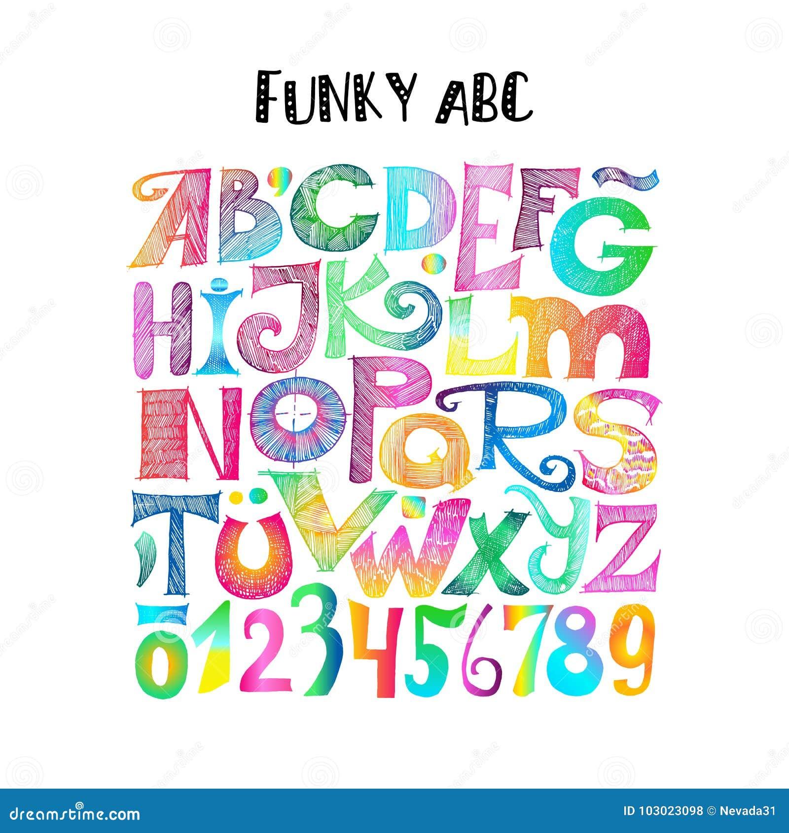 Skraj abc Knapphändiga bokstäver och tal