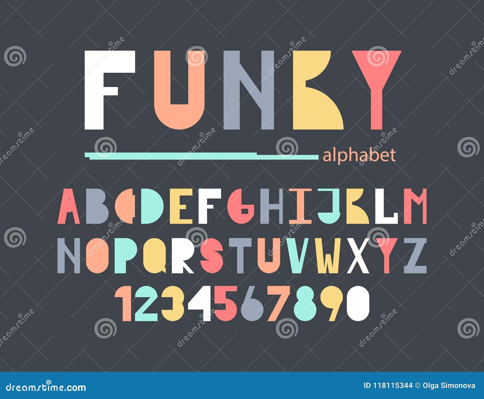 Skraj färgrikt alfabet