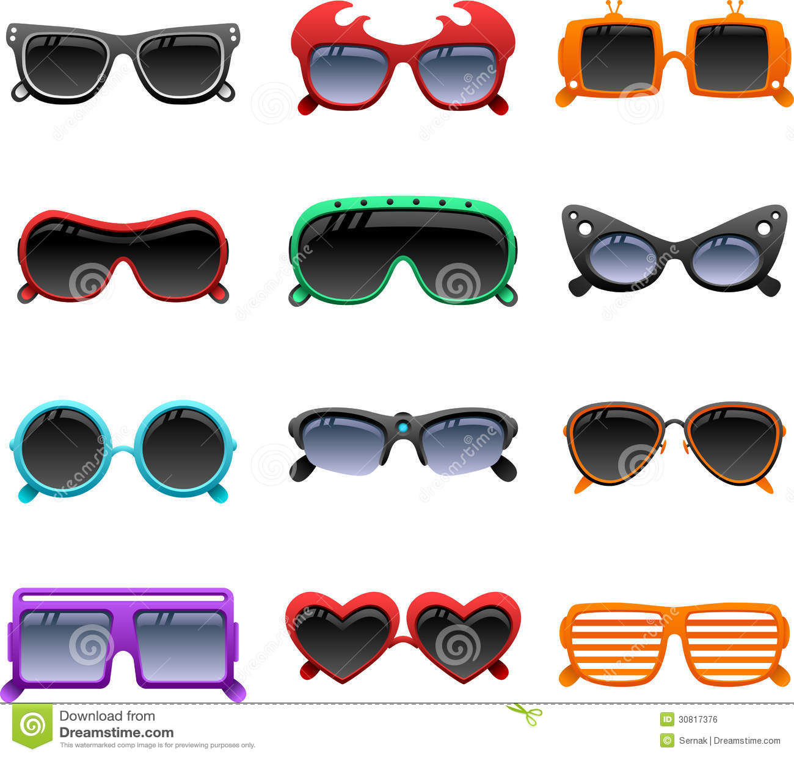 Skraj solglasögonsymboler