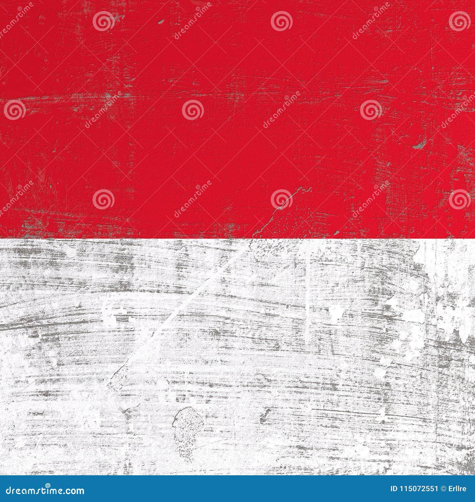 Skrapad Monaco flagga