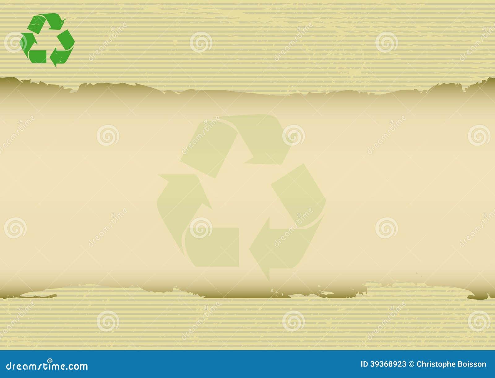 Skrapad recyclabehorisontalbakgrund