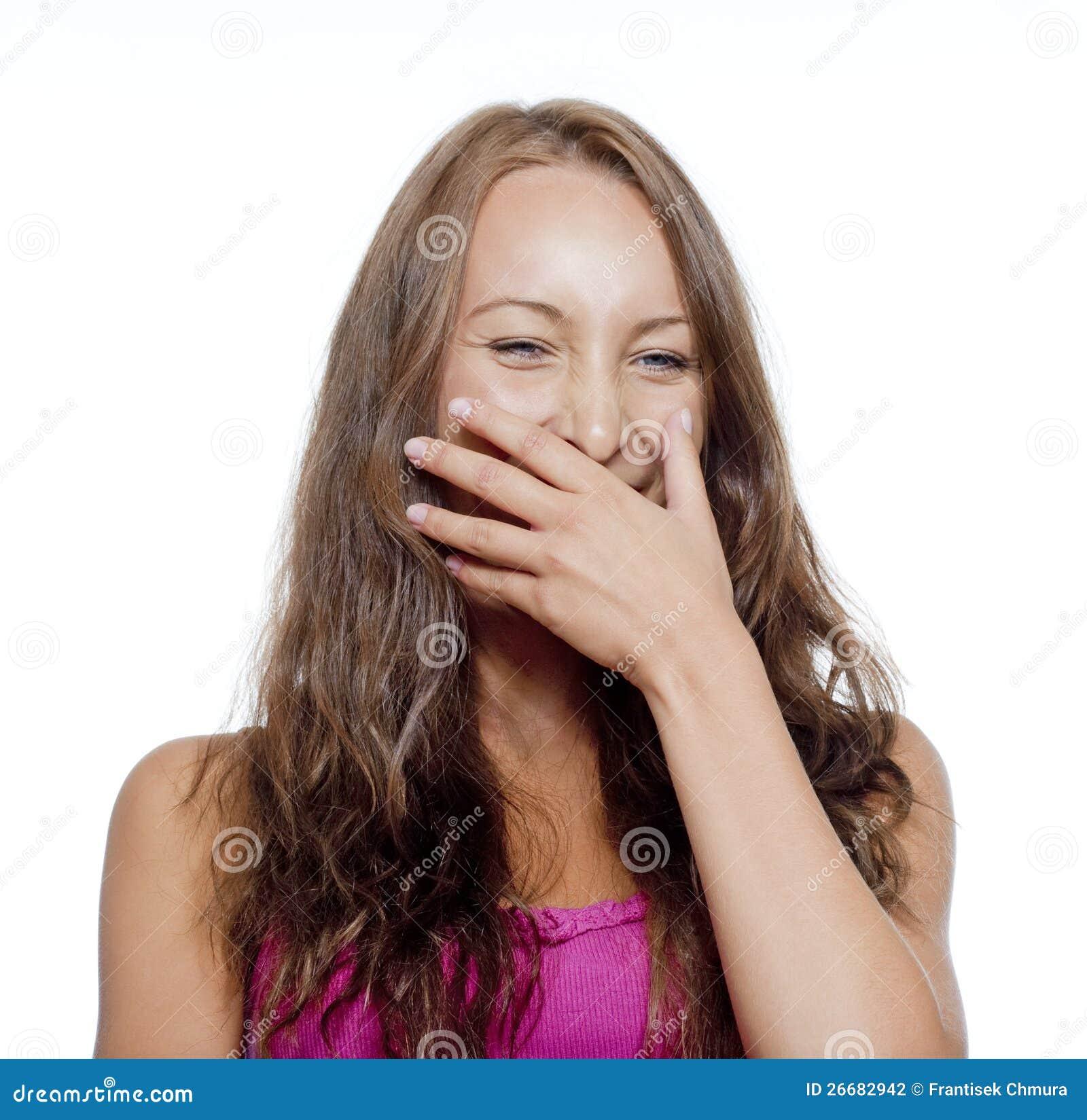 Skratta för ung flicka